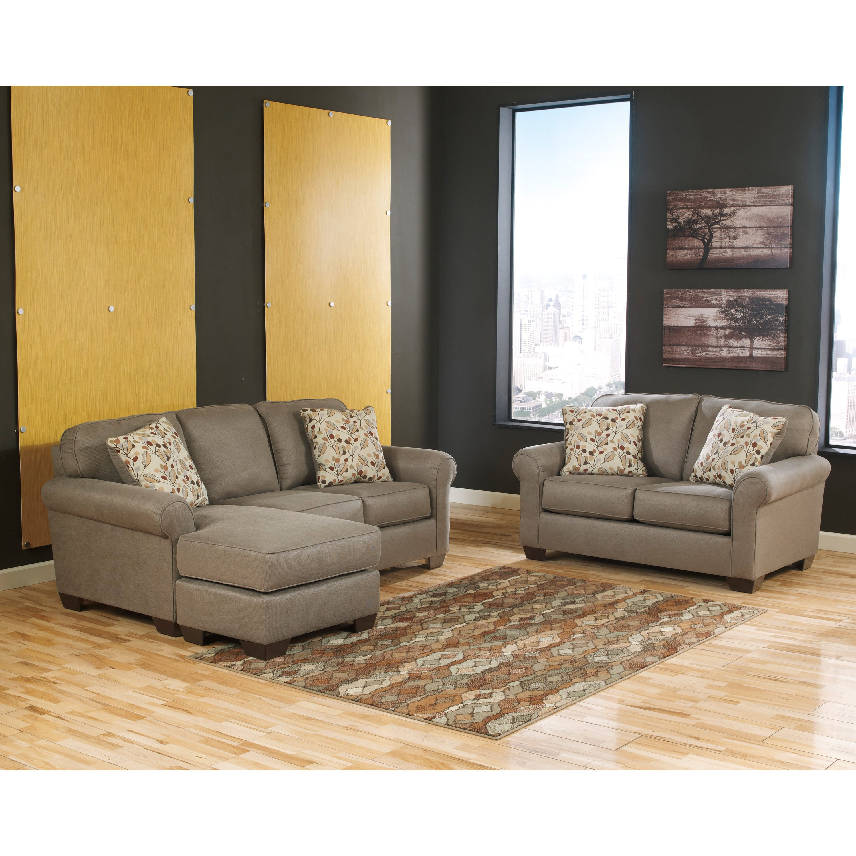 chocolate item piece products vista with ashley sectional height b threshold casual furniture width left chaise sofa trim