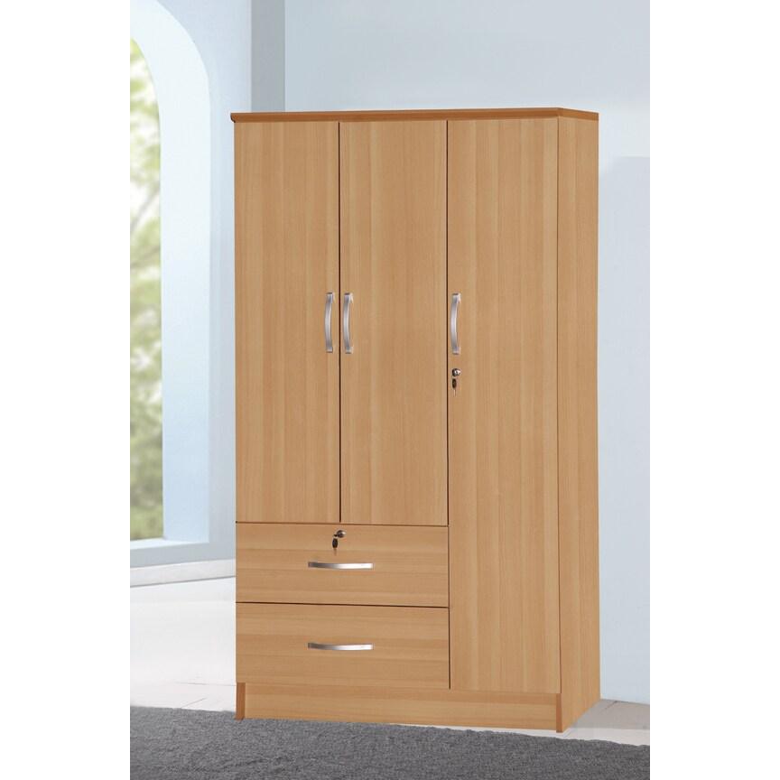 Shop 3 Door Wardrobe Armoire 72h X 36w X 21d Free Shipping