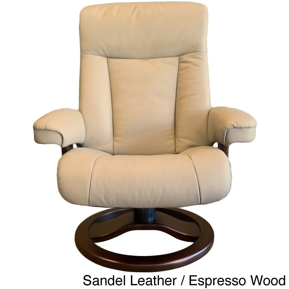 Fjord Leather And Scansit Recliner Ottoman TF1Jcl3uK