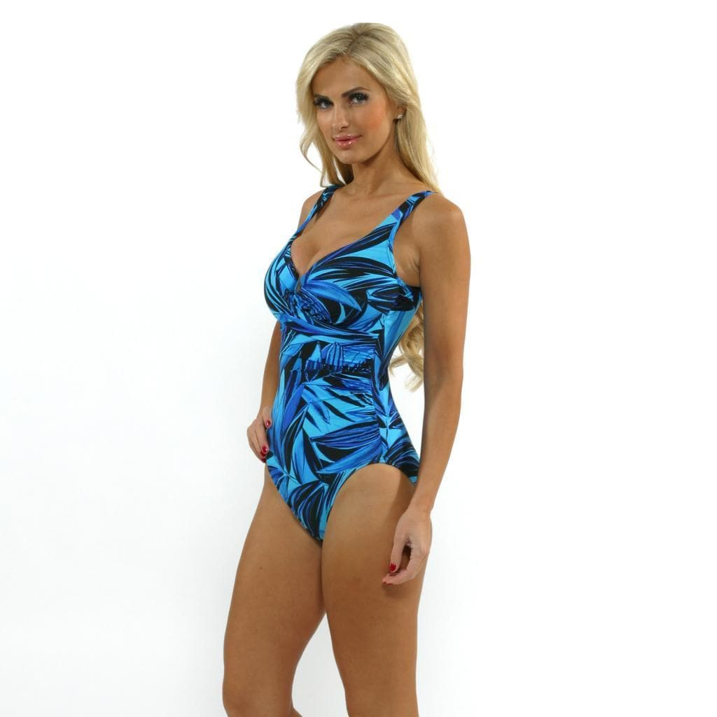 a1ecaaef8e8 Shop Miraclesuit Women's 'Escape' Blue Leaf-print One-piece Swimsuit - Free  Shipping Today - Overstock - 8886999