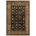 Safavieh Hand-knotted Ganges River Black/ Gold Wool Rug (4' x 6')