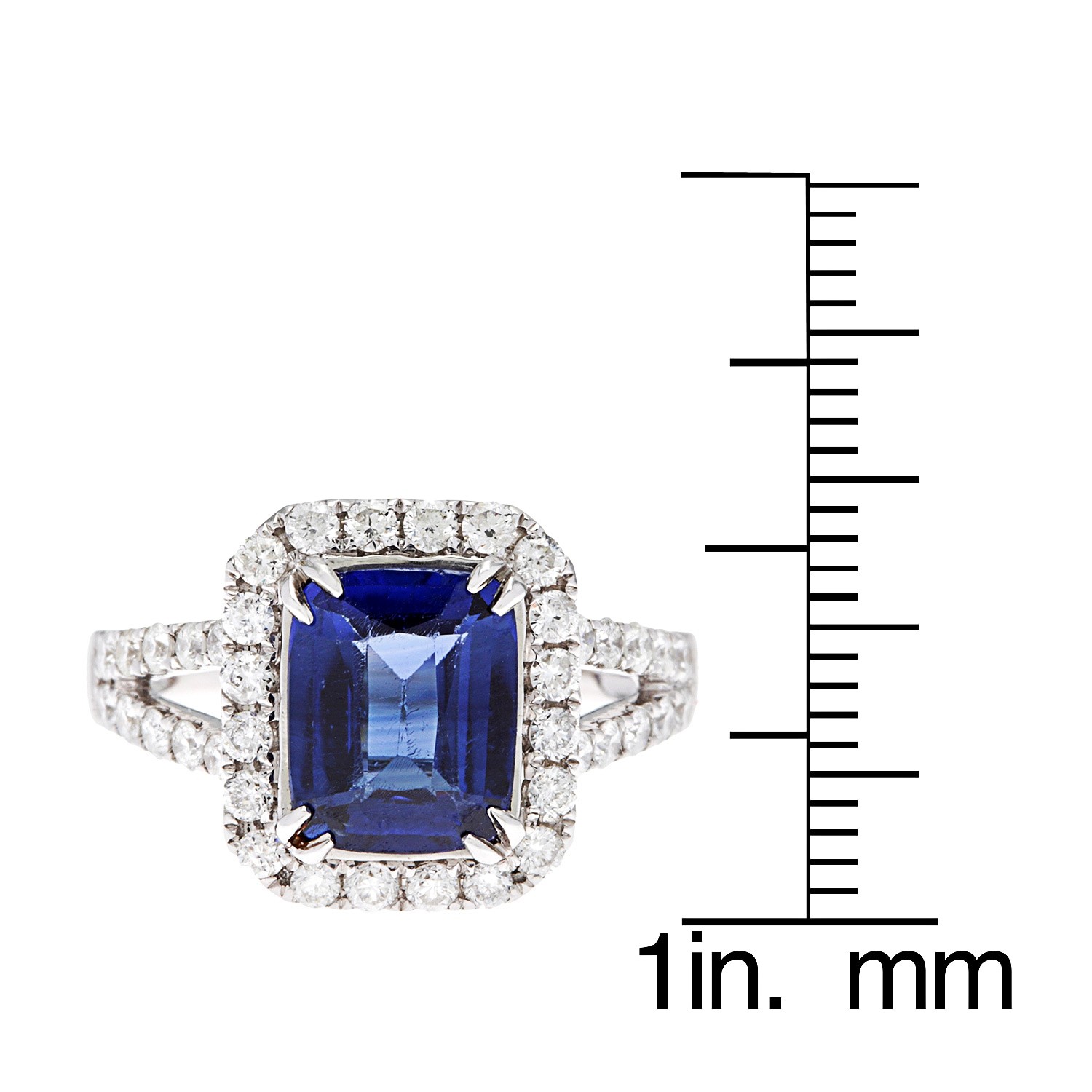 kabella diamond and gold sapphire pin ring tdw row white