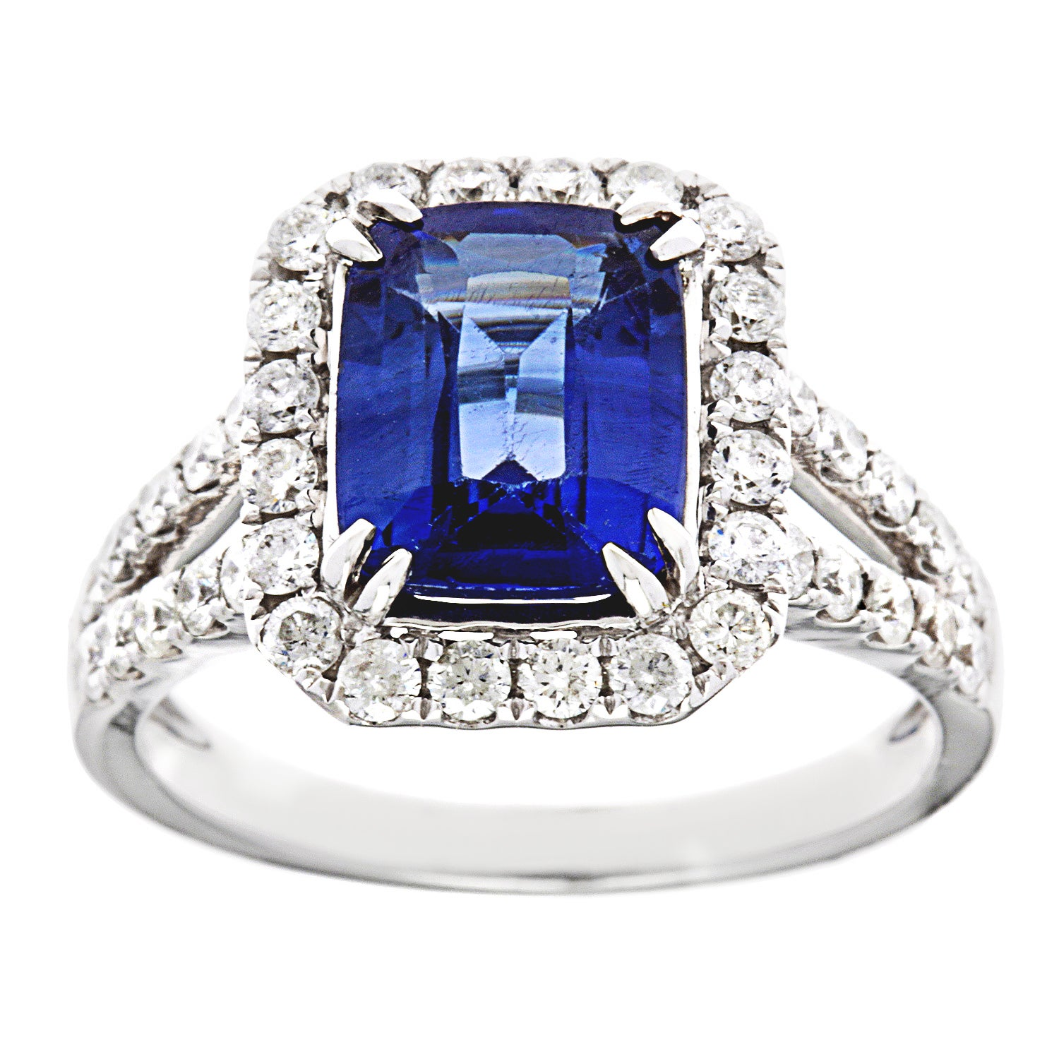 and kabella white pin diamond tdw sapphire ring gold row