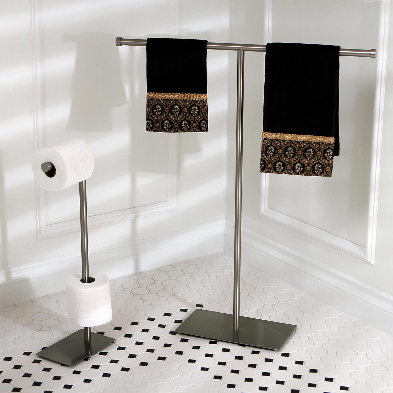 Shop Modern Satin Nickel Freestanding Bathroom Accessories - Free ...
