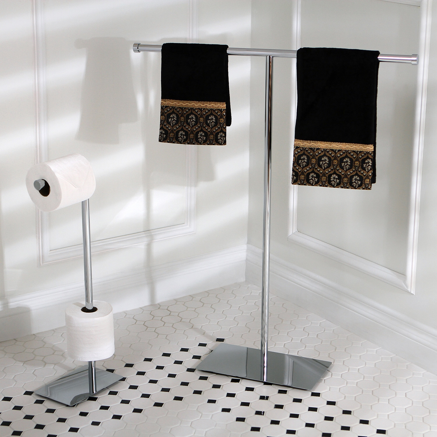 Shop Modern Freestanding Polished Chrome Bathroom Accessories - Free ...