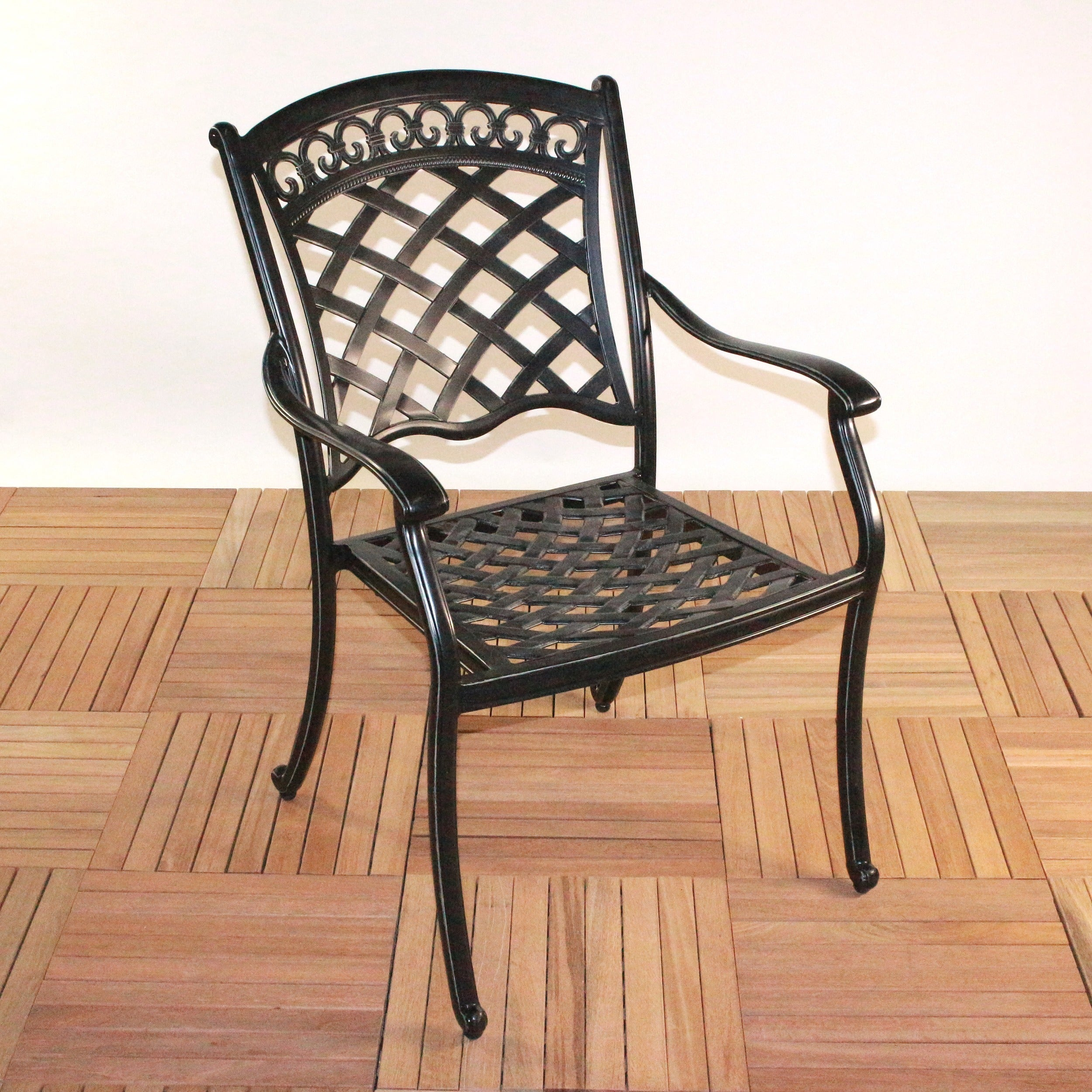 75c22861a8d Shop ComfortCare Large Dark Desert Bronze Cast Aluminum Patio Dining Set -  Free Shipping Today - Overstock.com - 8892915
