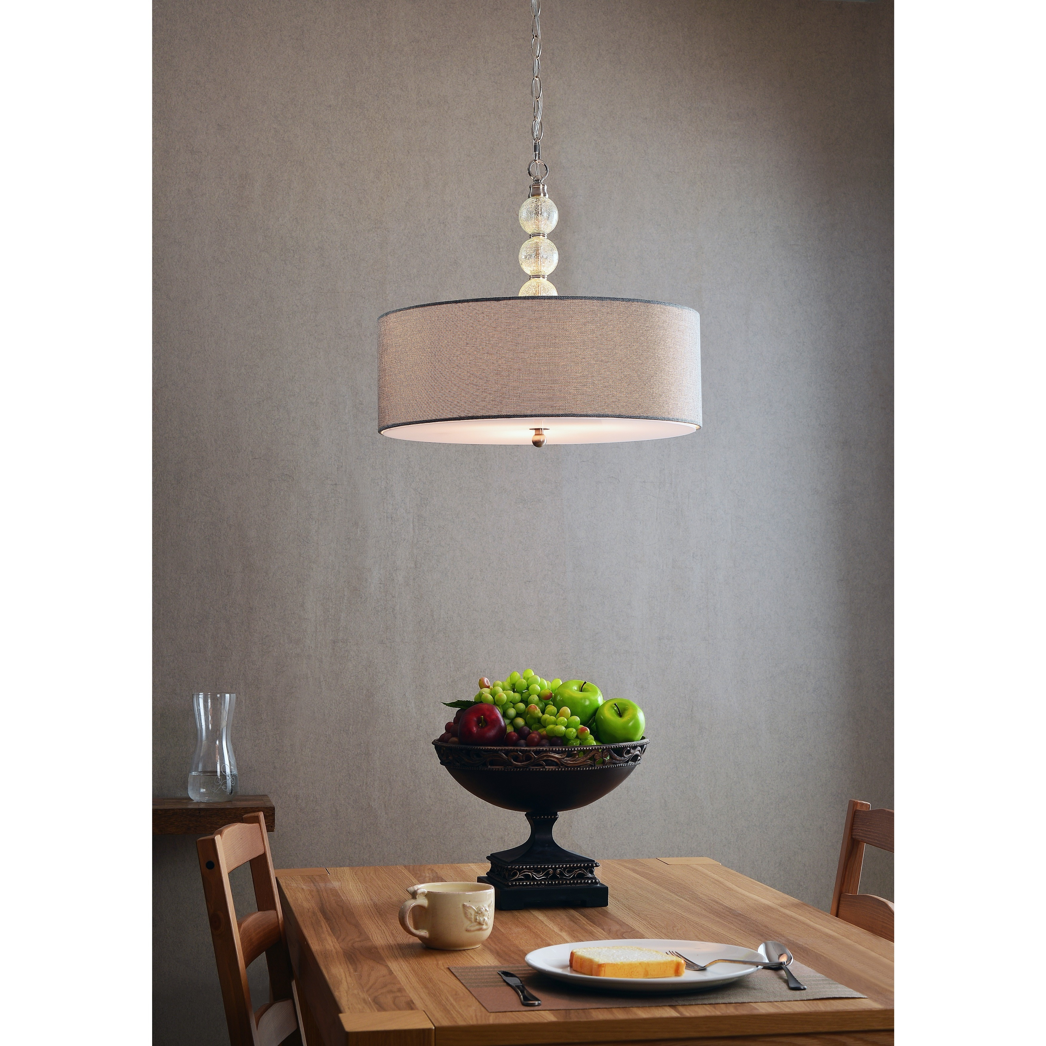 Shop Mia 3-light Brushed Steel Pendant - On Sale - Free Shipping ...
