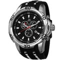 Joshua & Sons Bold Swiss Quartz Chronograph Date Silicone Strap Watch