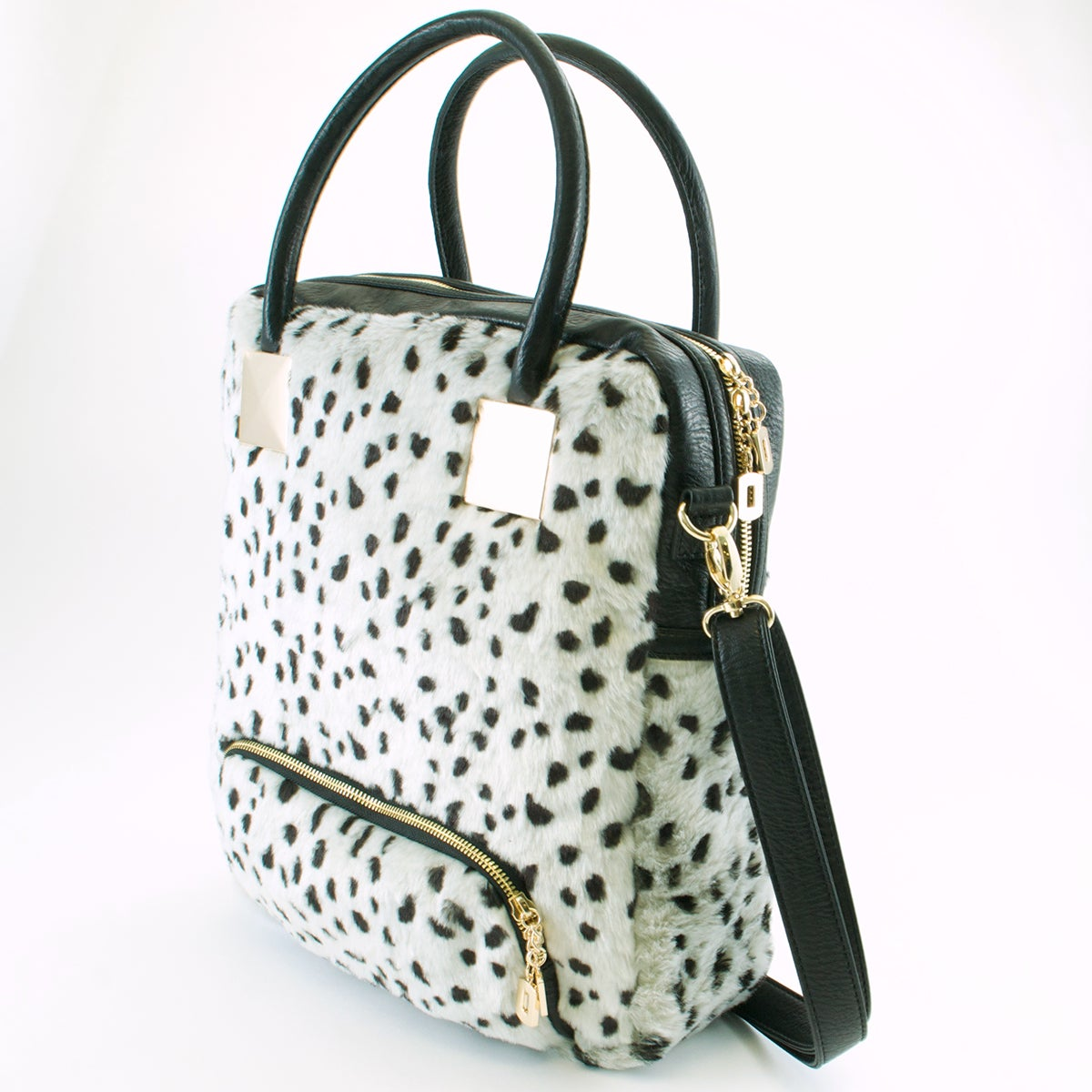23dd79c982 Shop Adrienne Landau Snow Leopard Shopper Tote - Free Shipping Today -  Overstock.com - 8896246
