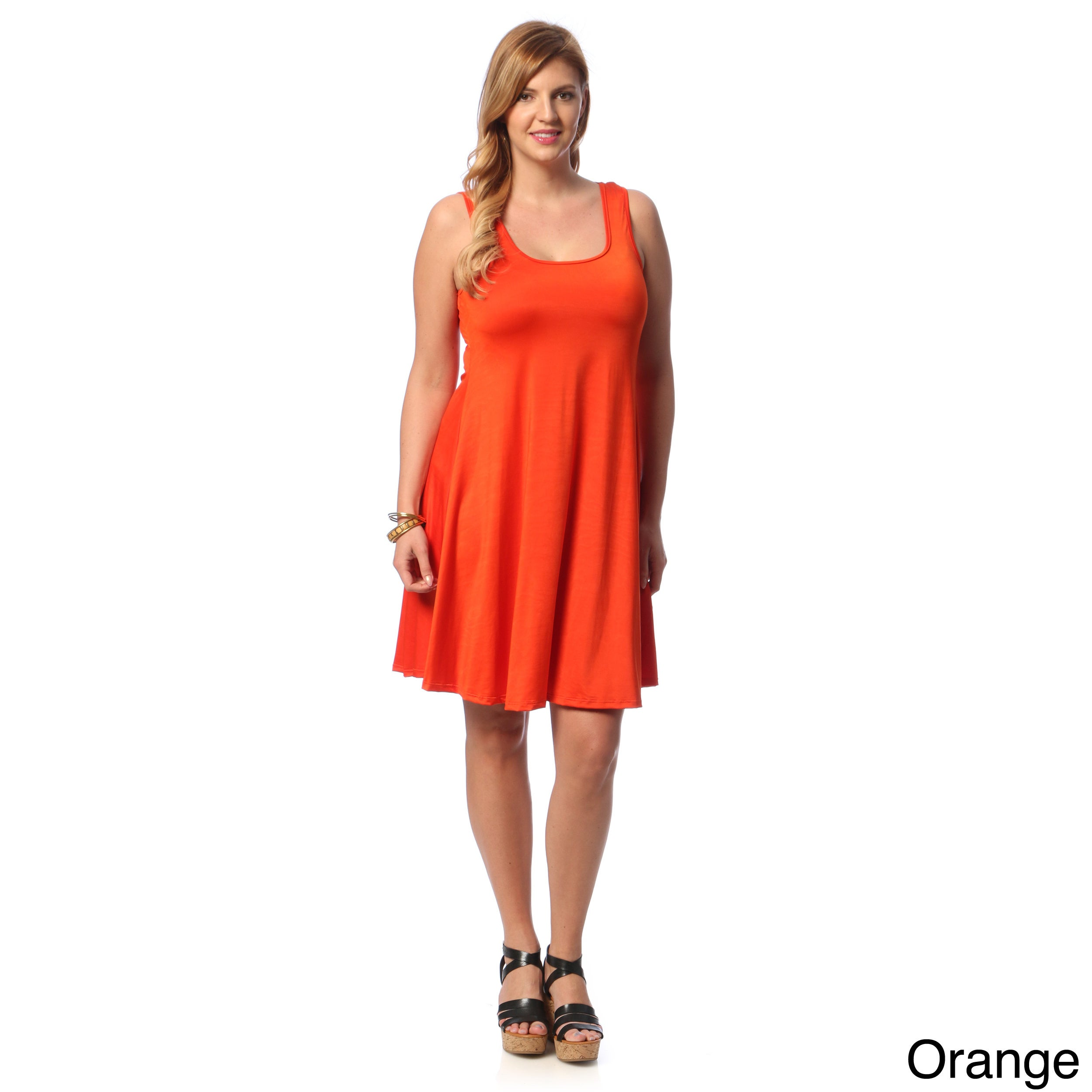0831ac1a1e0 Shop 24 7 Comfort Apparel Women s Plus Size Knee-length Tank Dress - On  Sale - Free Shipping On Orders Over  45 - Overstock - 8896281