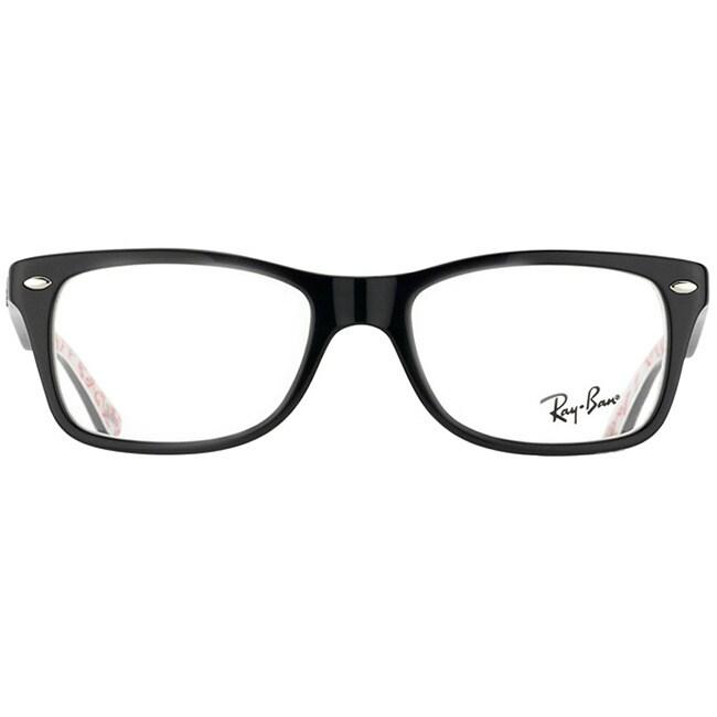 Shop Ray-Ban \'RX 5228 5014\' Black Logo Print Eyeglass Frames - Free ...