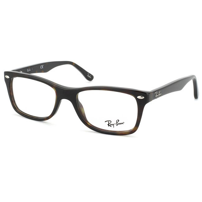 Shop Ray-Ban \'RX 5228 2012\' Womens Dark Havana Plastic Eyeglass ...