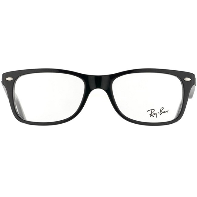 f2035475c0 Shop Ray-Ban  RX 5228 2000  Shiny Black Plastic Eyeglasses Frames - Free  Shipping Today - Overstock - 8896424