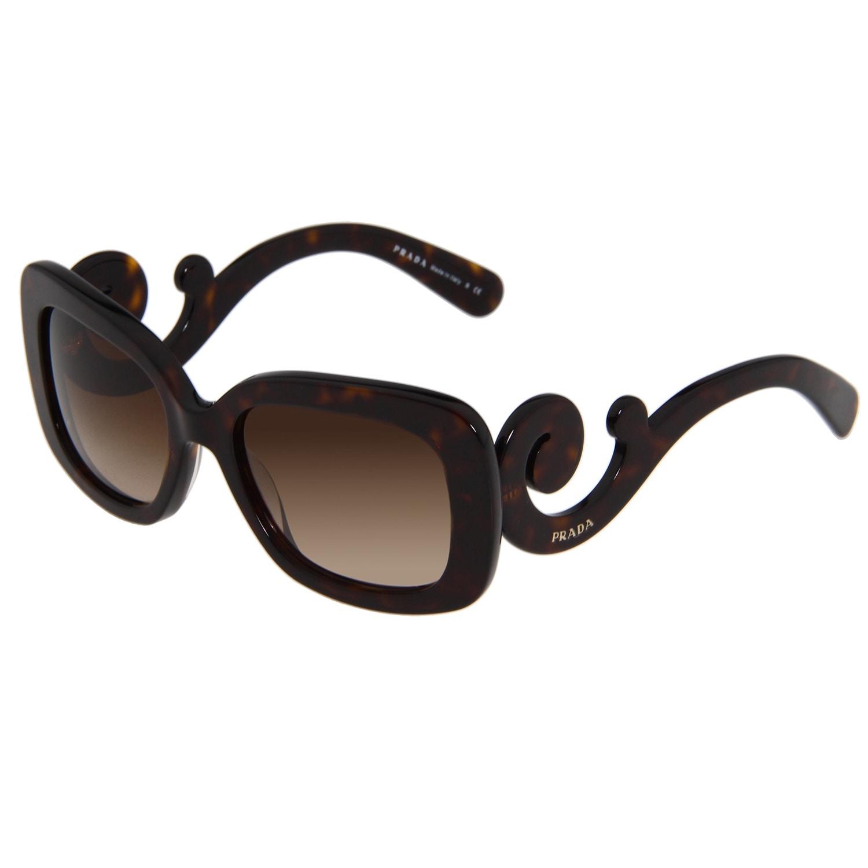 282d94c069f Shop Prada Women s  PR 27OS 2AU6S1  Tortoise Baroque Sunglasses - Free  Shipping Today - Overstock - 8896431