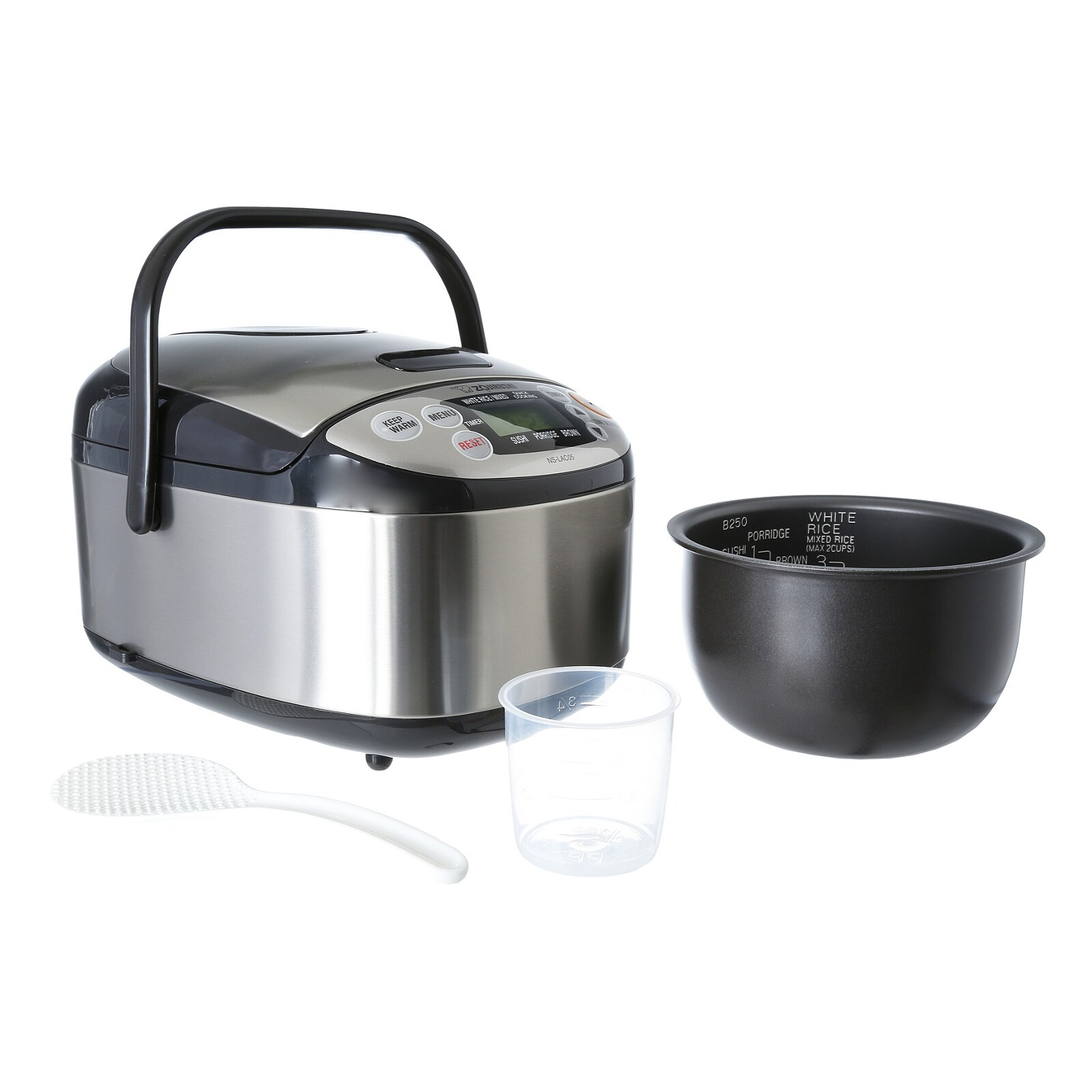 ff5499226a0 Shop Zojirushi NS-LAC05XT Micom 3-cup Rice Cooker and Warmer Black    Stainless - Free Shipping Today - Overstock - 8896539