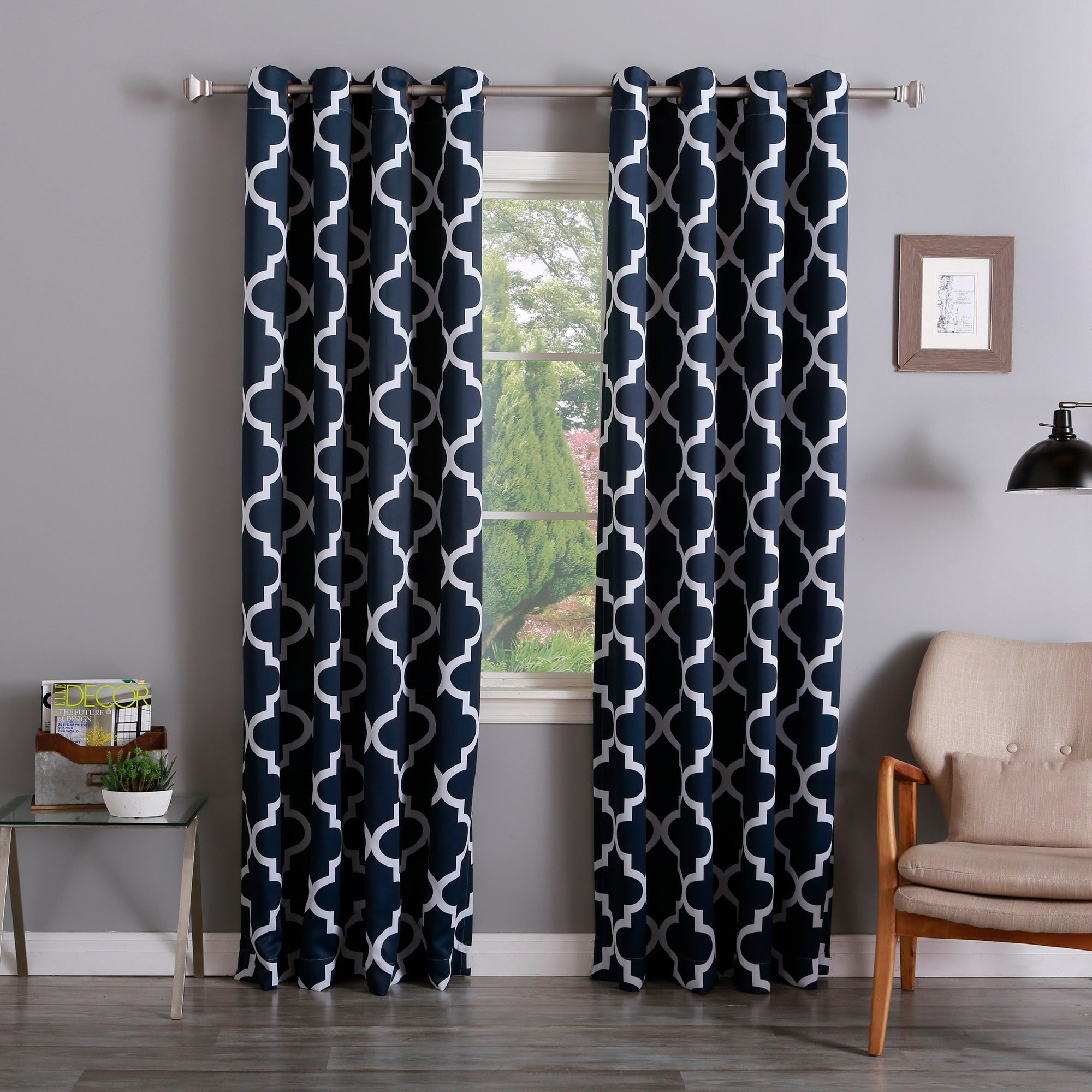 yellow curtain living curtains grommets room with and floral grey decofurnish gray grommet drapes top in