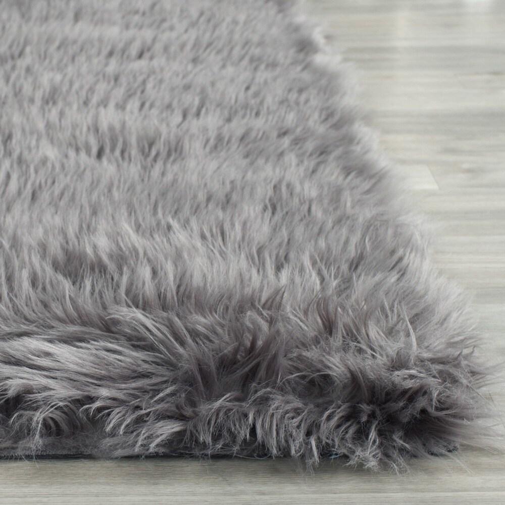 Safavieh Handmade Faux Sheepskin Grey Anese Acrylic Rug 8 X 10 On Free Shipping Today 8896942