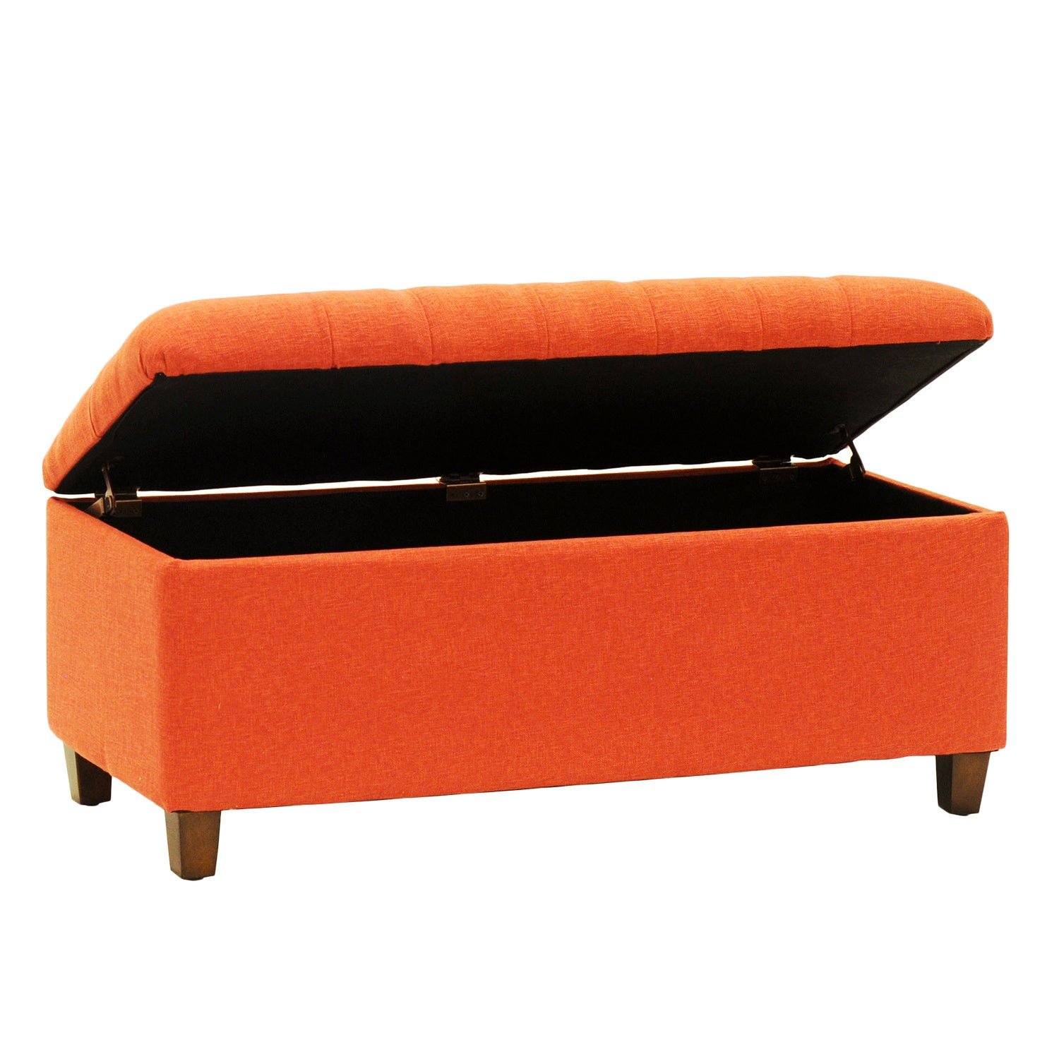 Charmant Shop HomePop Cranberry Red Linen Tufted Storage Bench   On Sale   Free  Shipping Today   Overstock.com   8900239