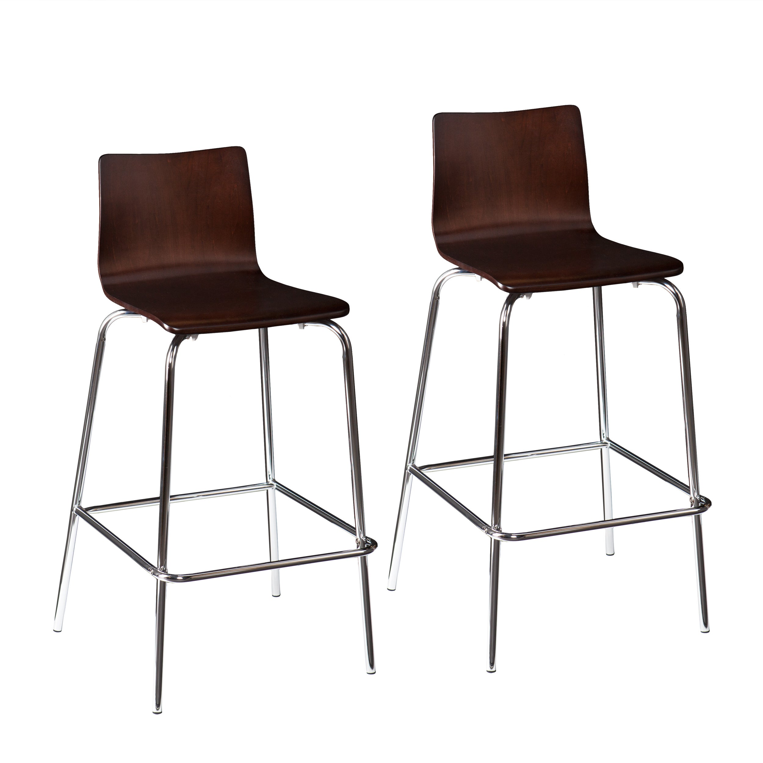 Shop holly martin blence espresso barstools set of 2 free shipping today overstock com 8903734