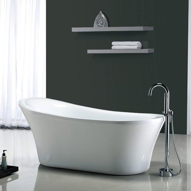 Shop OVE Decors Rachel 70-inch Freestanding Bathtub - Free Shipping ...