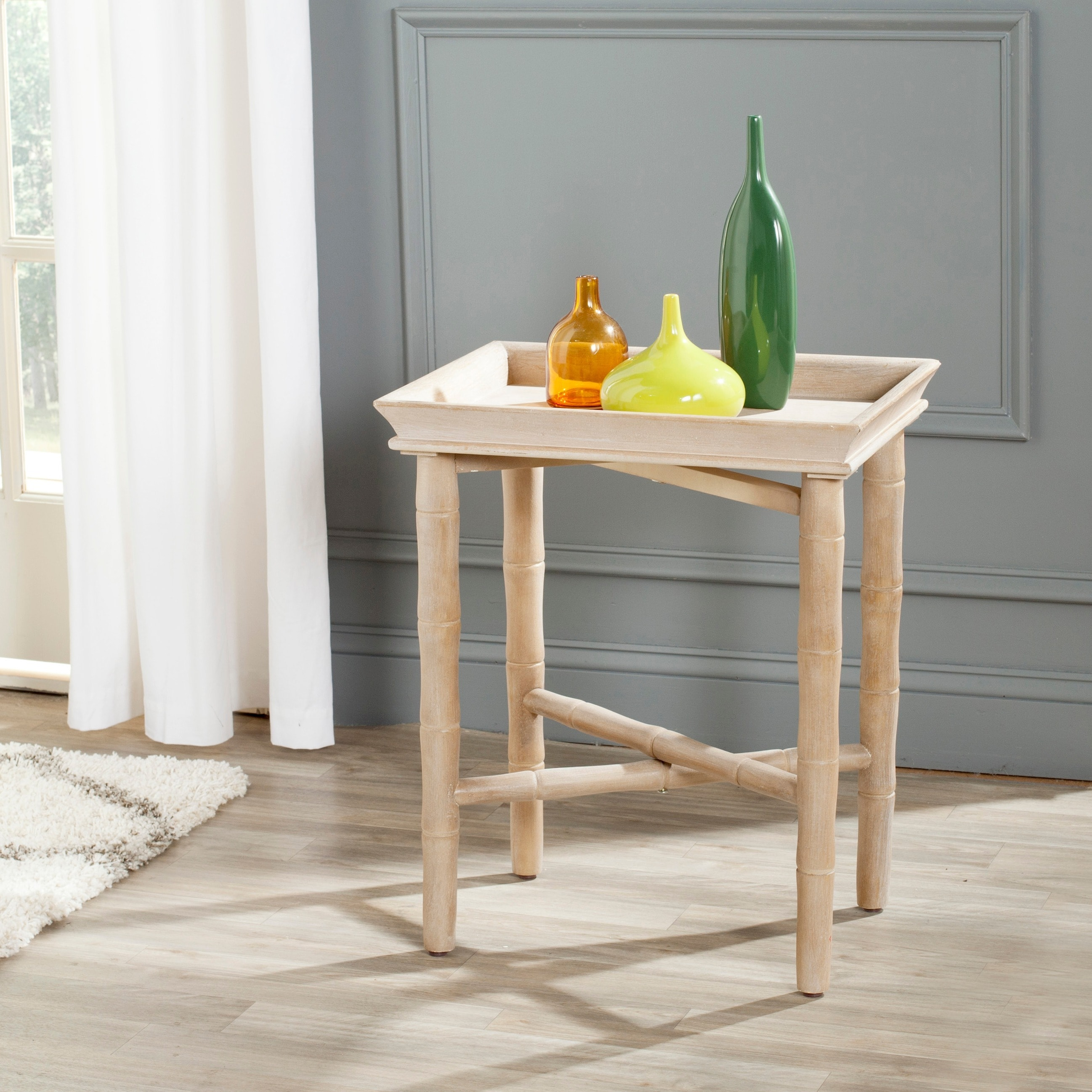 Shop Safavieh Norton Grey Side Table   Free Shipping Today   Overstock.com    8910086
