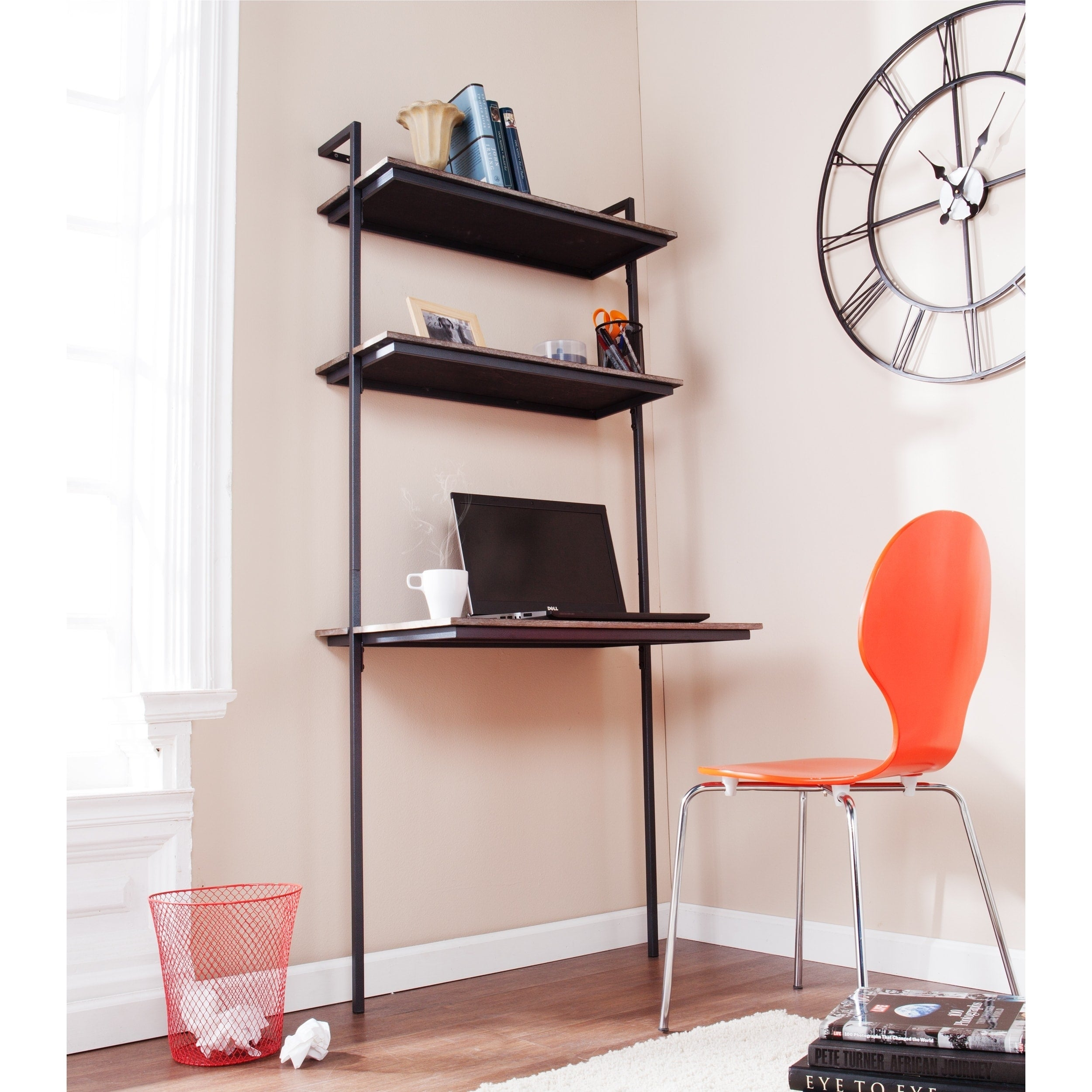 floating sale homcom mount desk office storage mounted wall football summer w