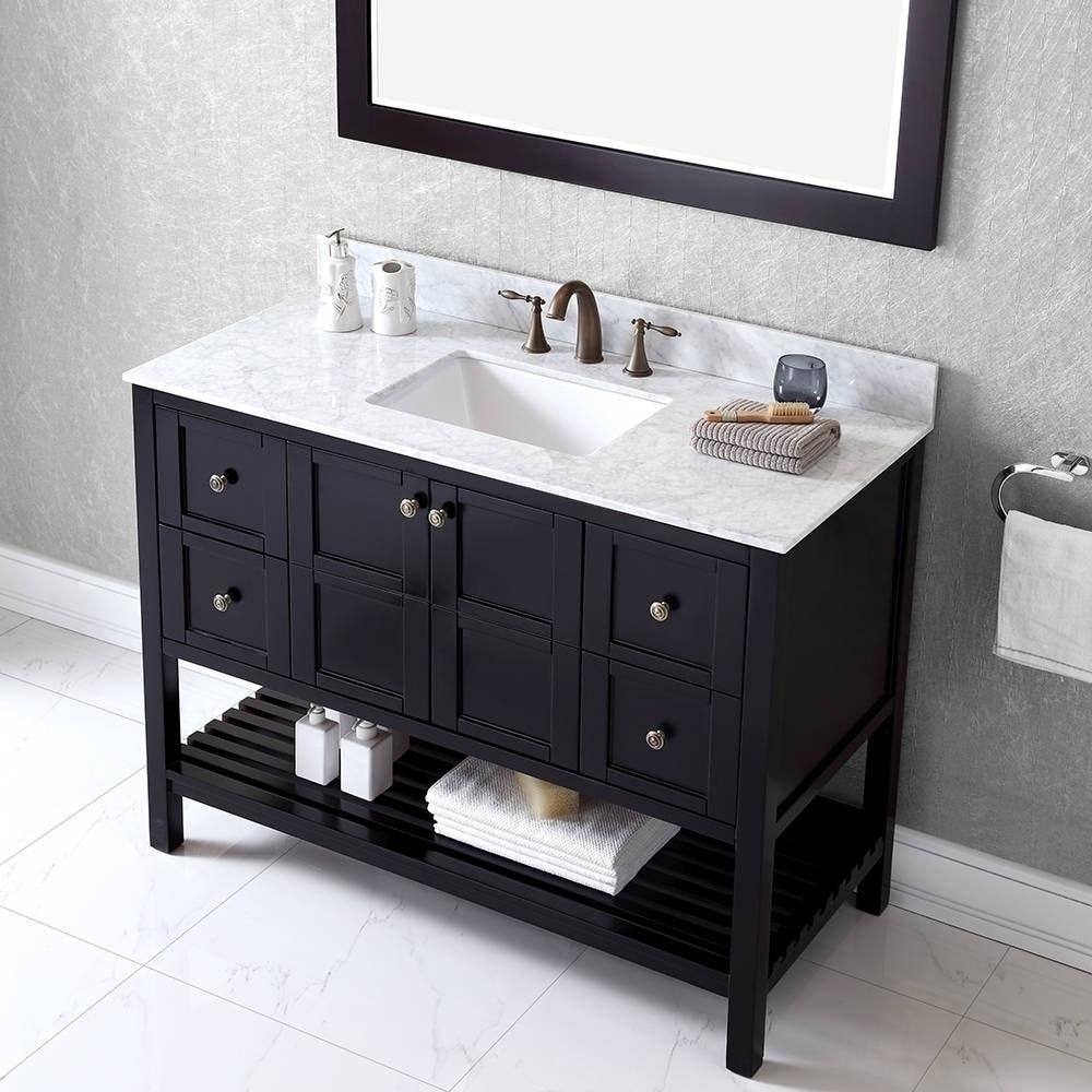 Unique 22 Inch Wide Bathroom Vanity with Sink