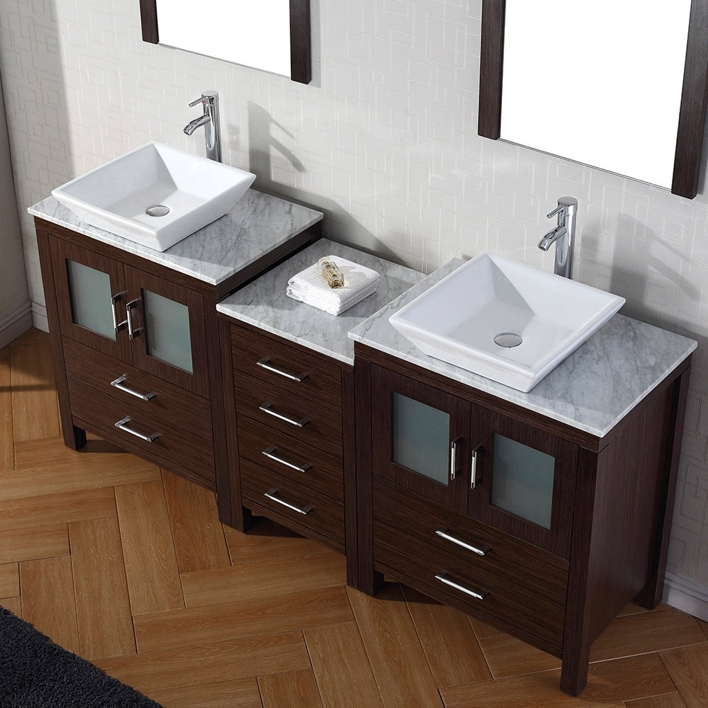 Shop Virtu USA Dior Inch Double Sink Vanity Set In Espresso - 66 inch bathroom vanity