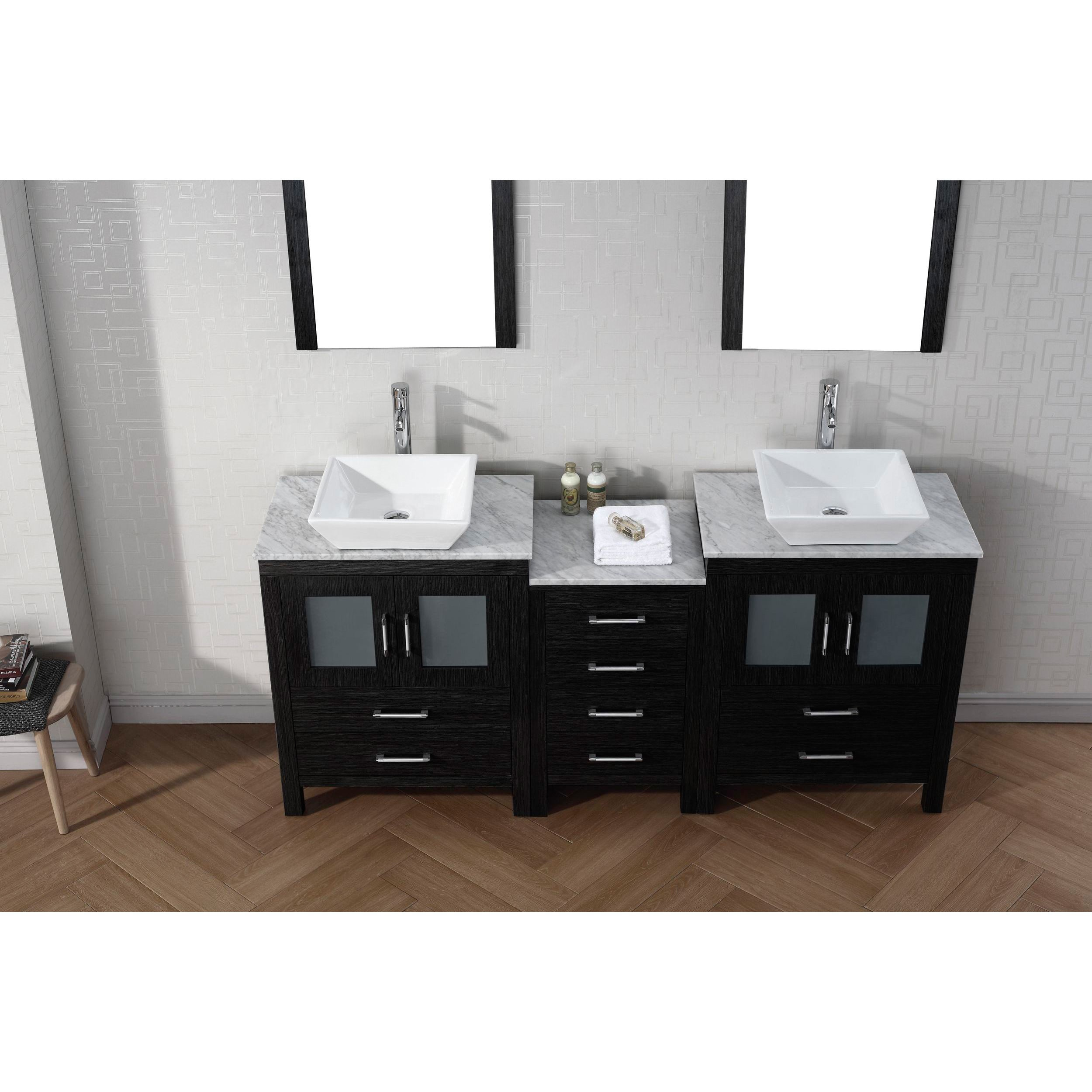 66 Inch Double Sink Vanity. Virtu USA Dior 66 inch Double Sink Vanity Set in Zebra Grey Free Shipping  Today Overstock com 16129150 The Best 98 Inch Home Decor