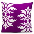 Mina Victory Indoor/Outdoor Damask Lilac Throw Pillow (20-inch x 20-inch) by Nourison