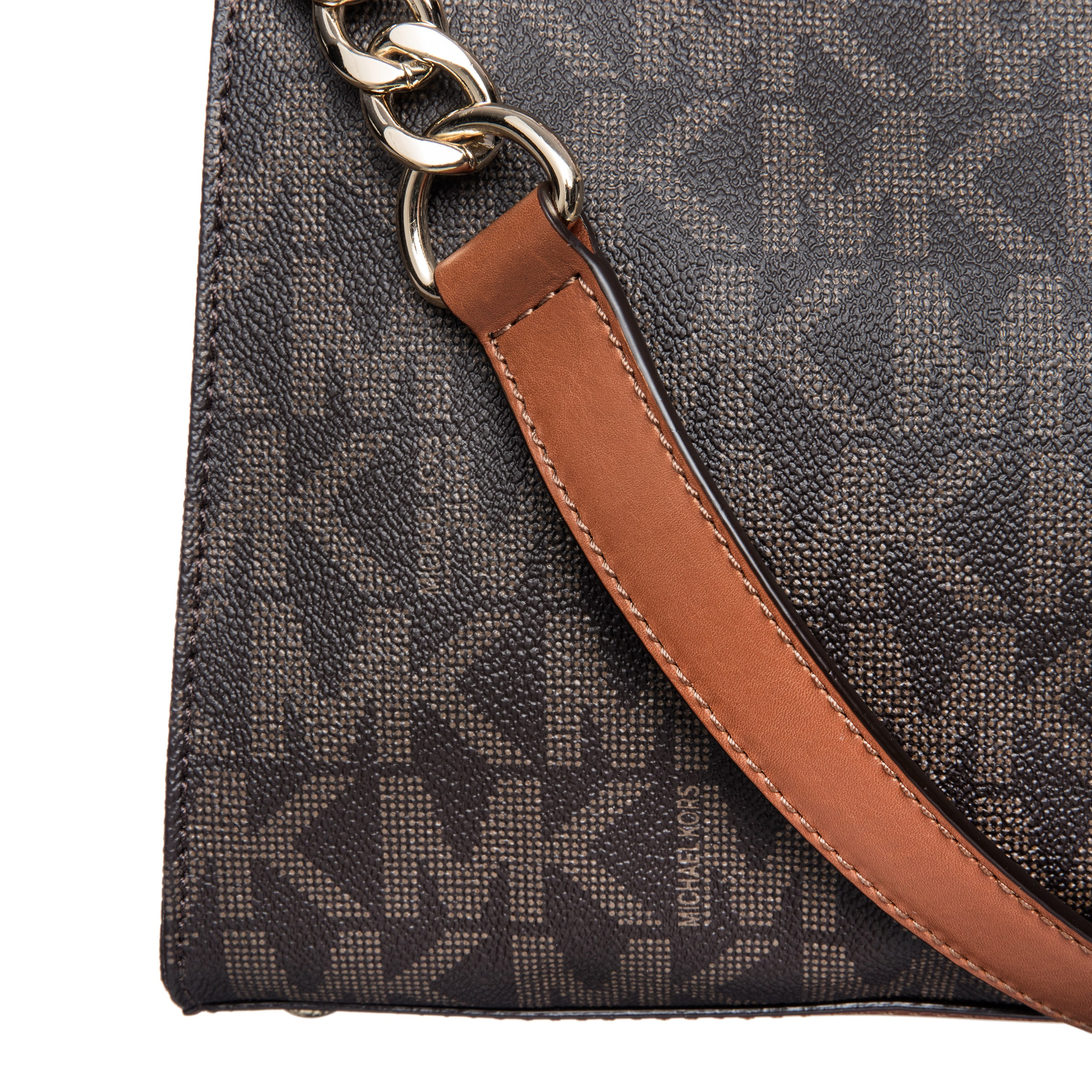 Shop Michael Kors Hamilton Large North South Brown Logo Tote Bag - Free  Shipping Today - Overstock.com - 8911861 6607b895f3