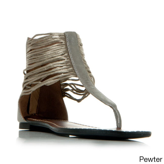 4c9a4c3ae689b Shop Gomax Berdine-78 Women s Ankle Wrap Thong Sandals - Ships To Canada -  Overstock.ca - 8911892