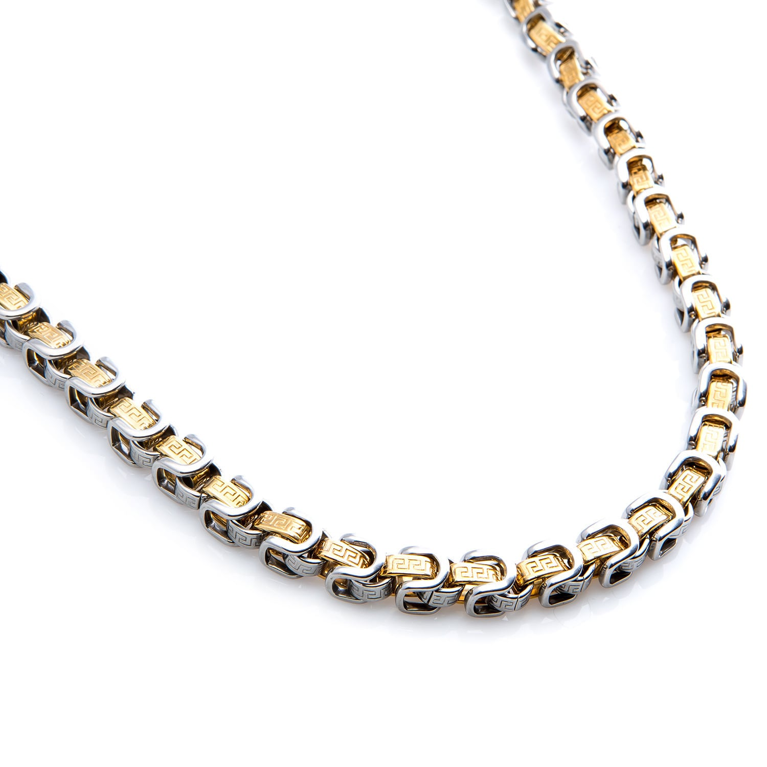 mens x chain necklace link wide