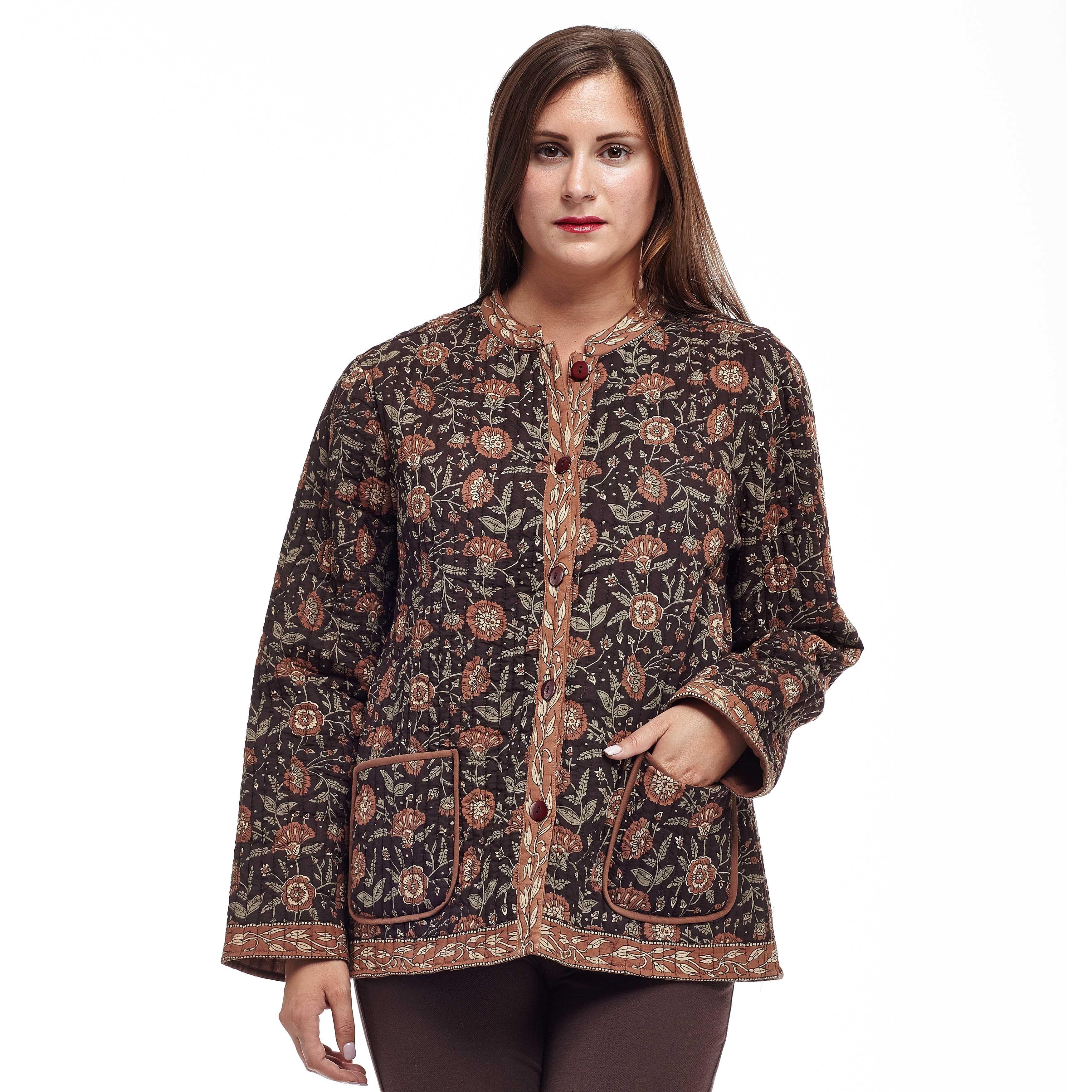 4b72e2298d1 Shop La Cera Women s Plus Size Quilted Mandarin Collar Jacket - Ships To  Canada - - 8914820