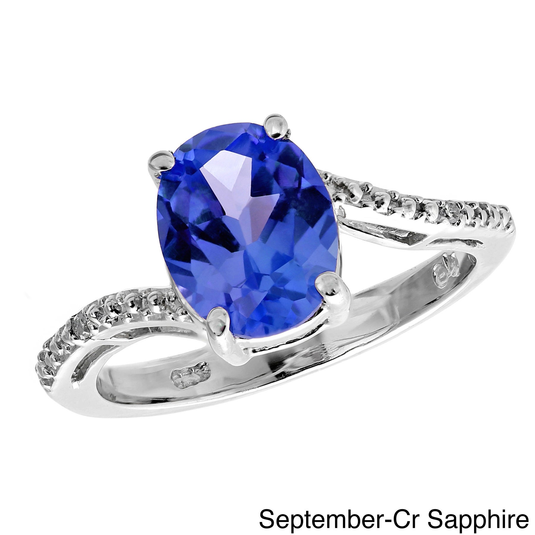 sapphire men september ring blue cz s silver amazon celtic com band birthstone gold dp claddagh knot trinity jewelry cross