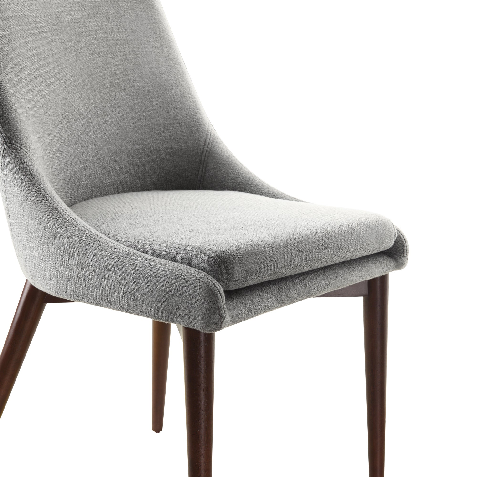 Sasha Mid-century Grey Fabric Upholstered Tapered Leg Dining Chairs (Set of  2) iNSPIRE Q Modern - Free Shipping Today - Overstock.com - 16143504