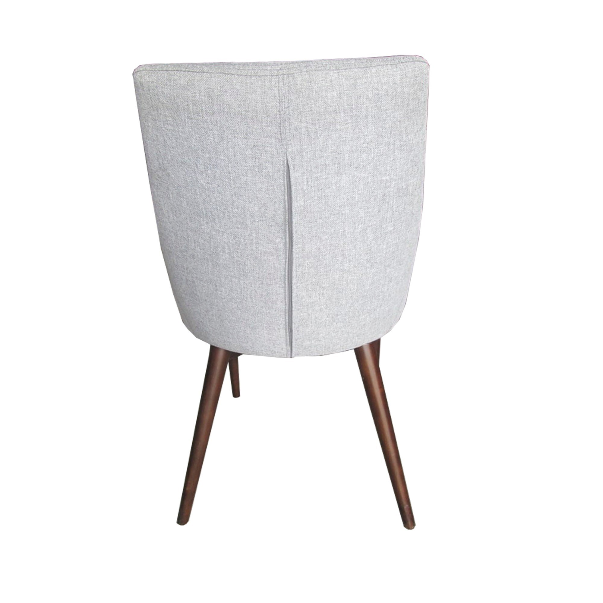 Shop Sasha Mid Century Grey Fabric Upholstered Tapered Leg Dining Chairs  (Set Of 2) INSPIRE Q Modern   Free Shipping Today   Overstock.com   8927898