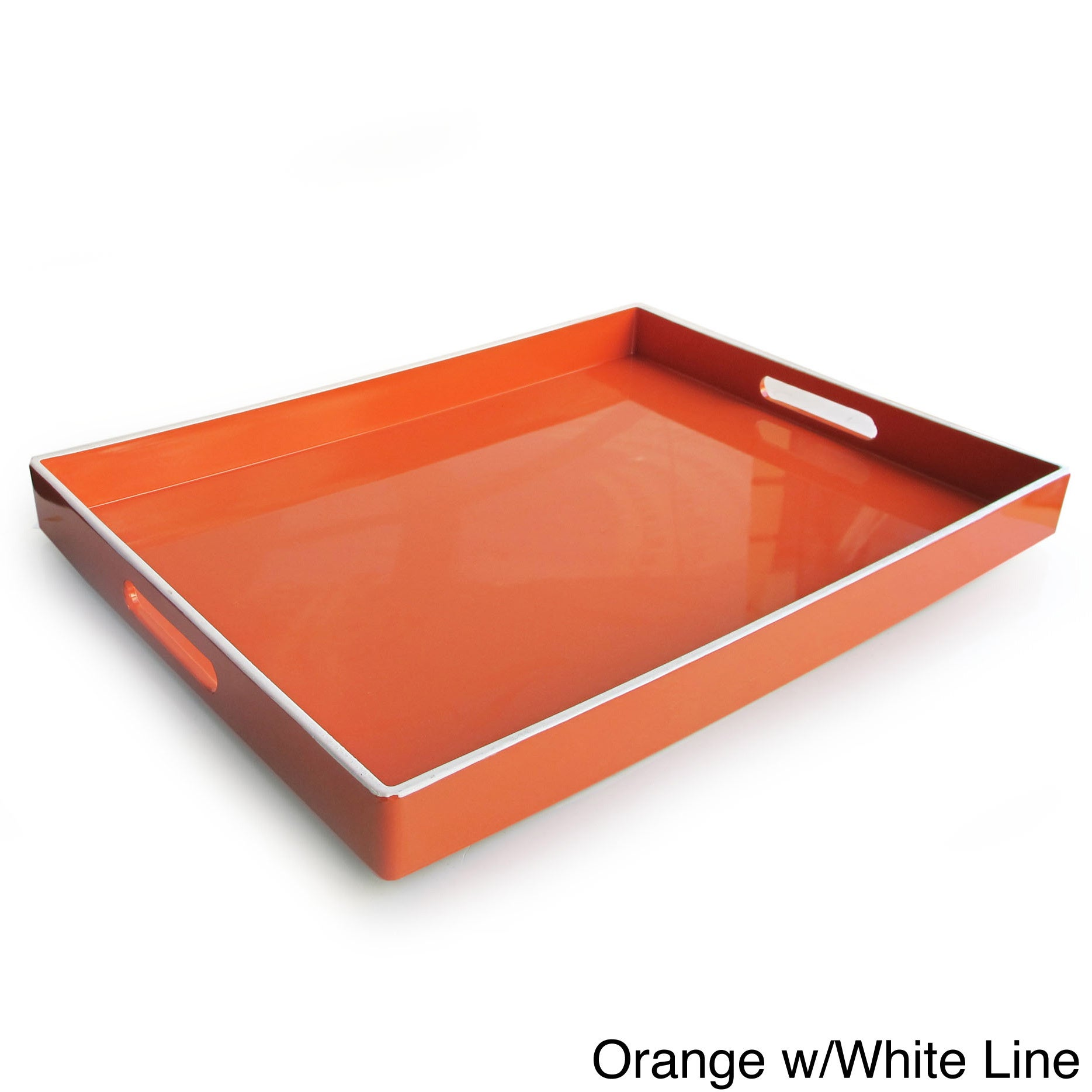 Rectangular Serving Tray with Handles (19 x 14 inches) - Free Shipping On  Orders Over $45 - Overstock.com - 16143524
