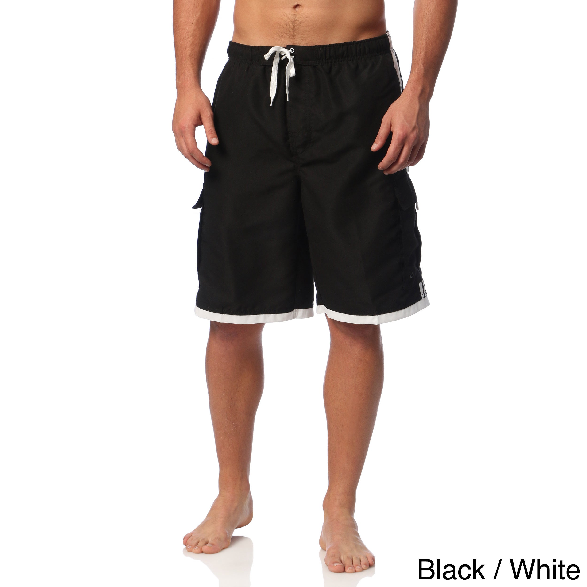 db926070a2701 Shop Burnside Men's Swim Striped Board Shorts - Free Shipping On Orders Over  $45 - Overstock - 8929390