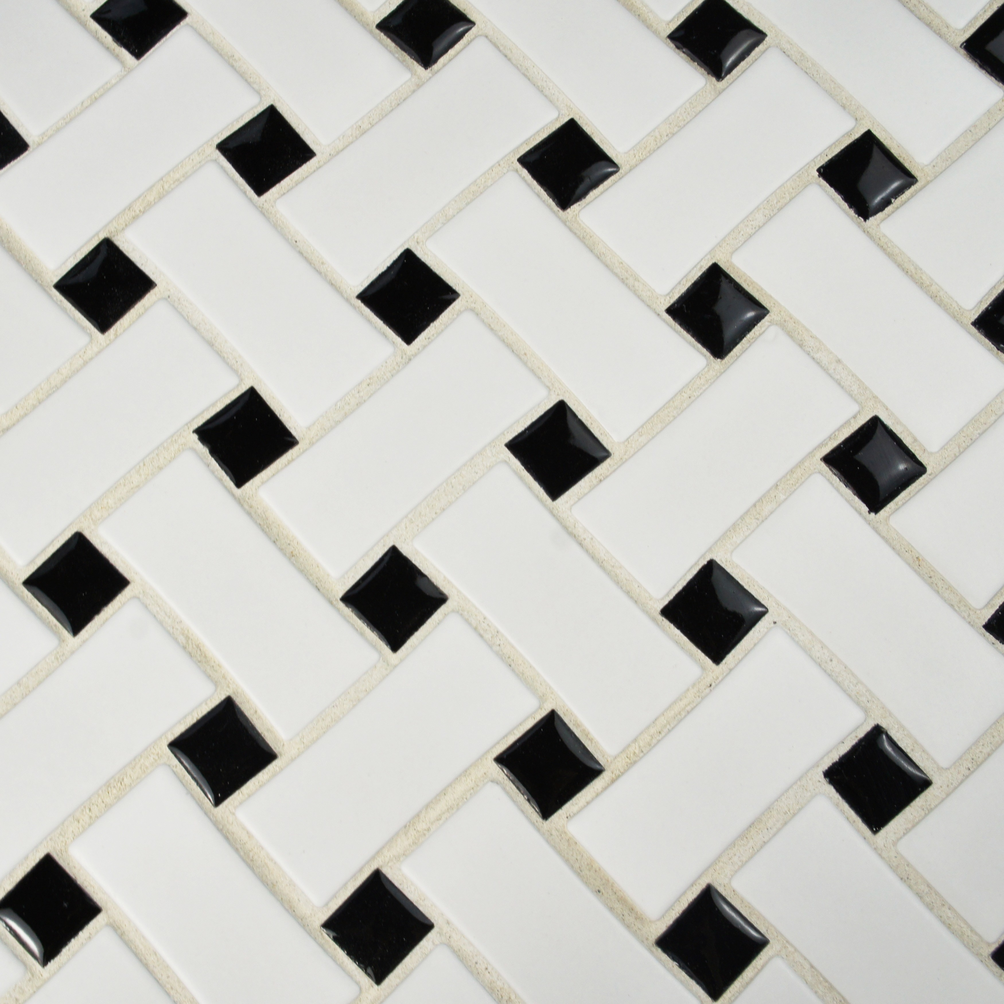 Somertile 105x105 inch victorian basket weave black and white somertile 105x105 inch victorian basket weave black and white porcelain mosaic floor and wall tile free shipping today overstock 16144816 dailygadgetfo Images