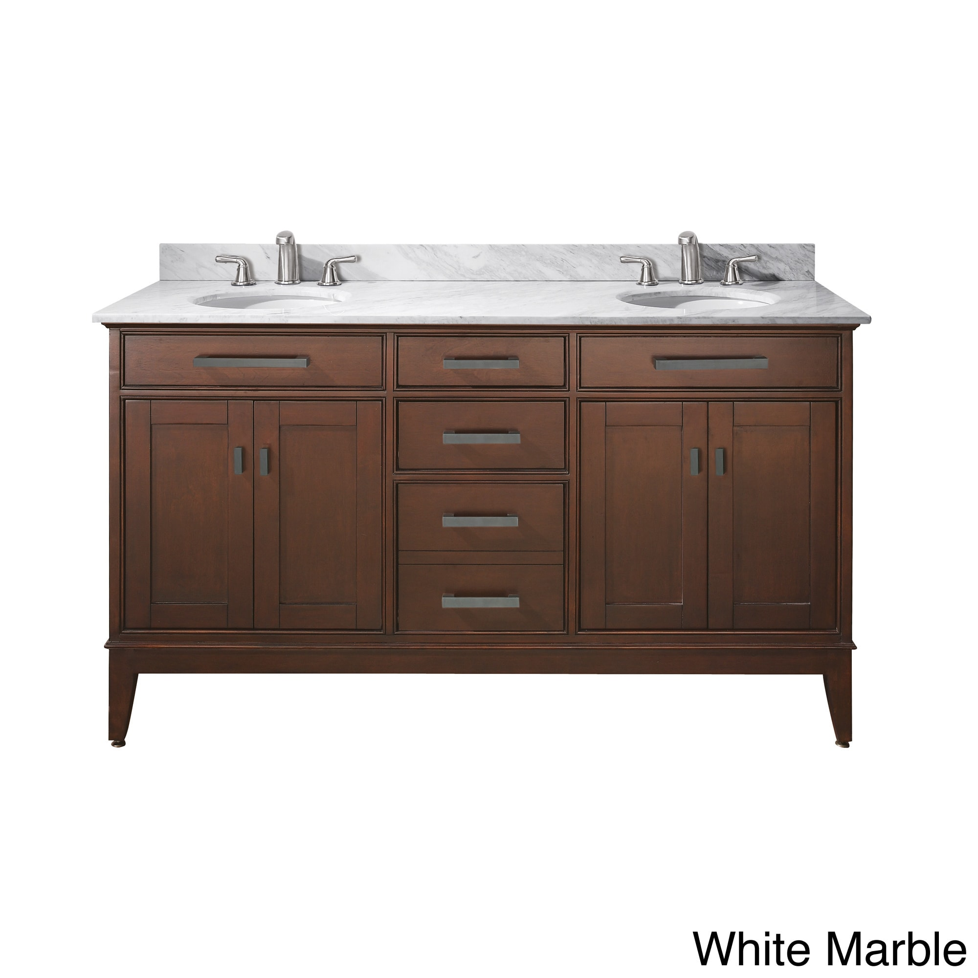 Avanity Madison 60 Inch Double Vanity In Finish With Dual Sinks And Top Free Shipping Today 8930029