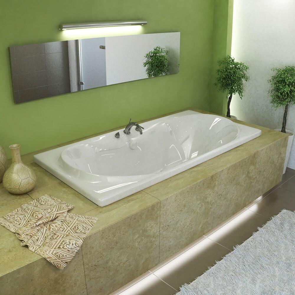 Atlantis Whirlpools Whisper 36 x 72 Rectangular Soaking Bathtub in ...