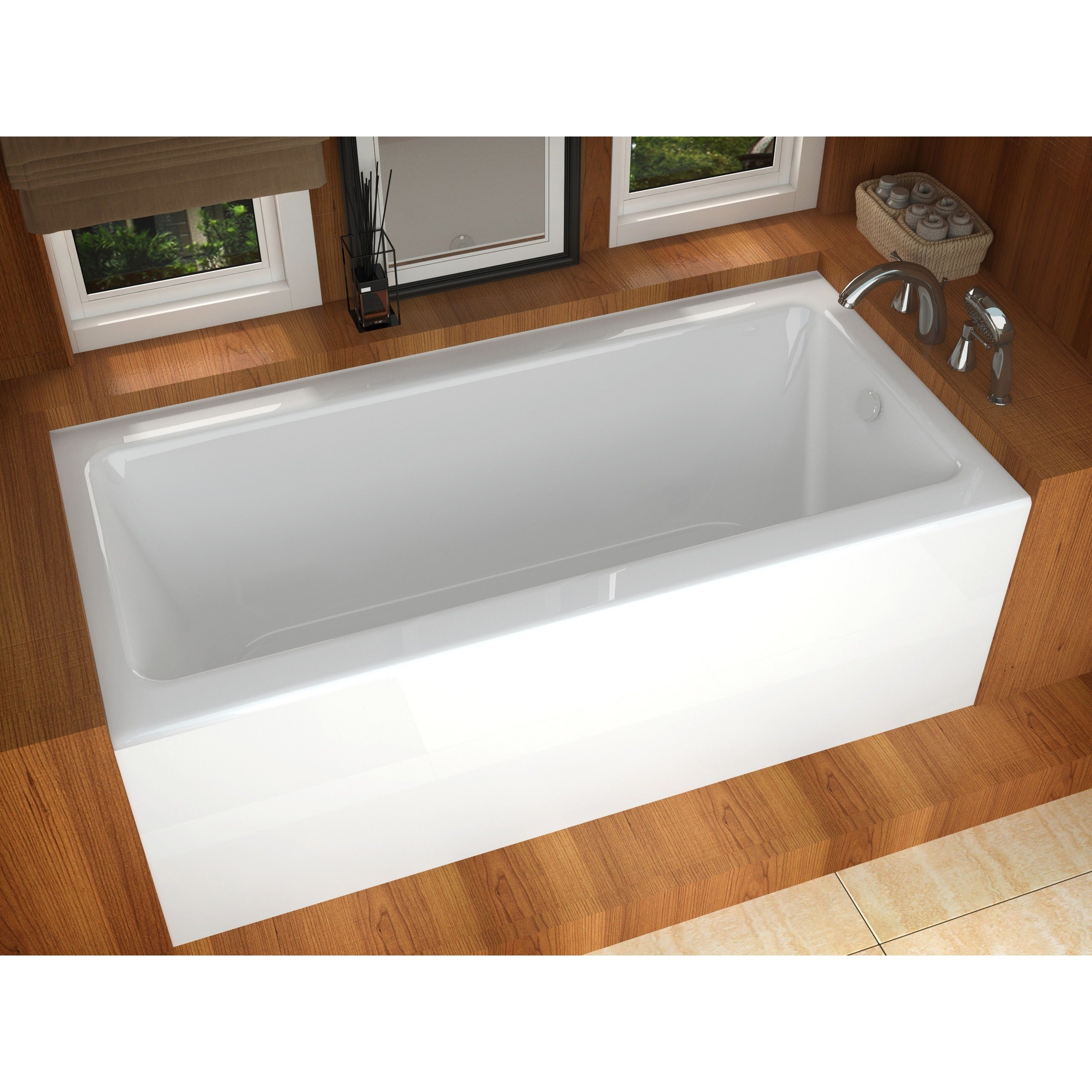 Shop Atlantis Whirlpools Soho 30 x 60 Front Skirted Tub in White ...