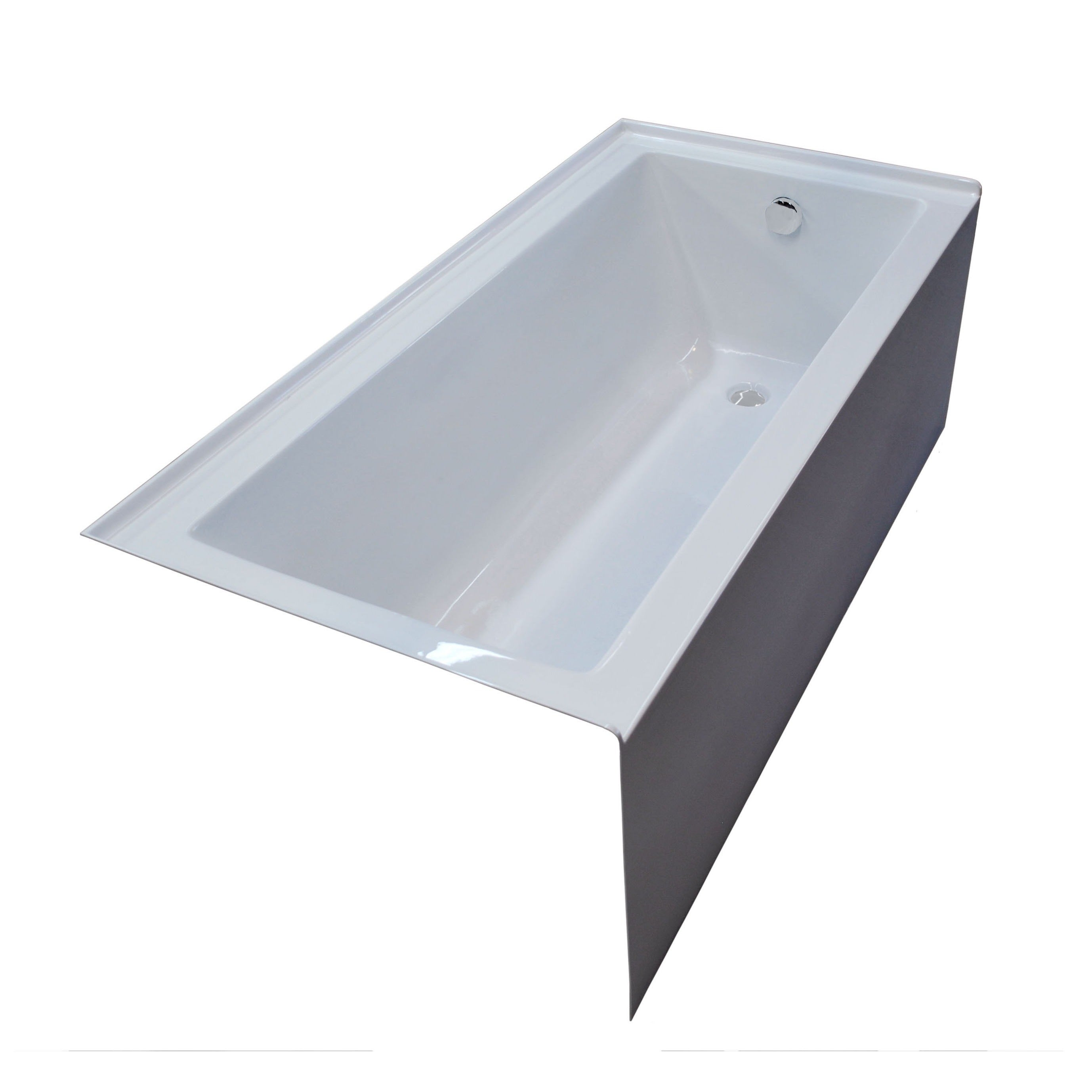 Shop Atlantis Whirlpools Soho 32 x 60 Front Skirted Tub in White ...