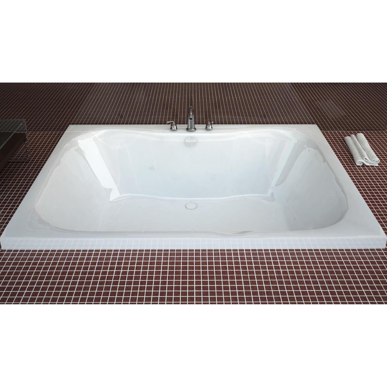 Shop Atlantis Whirlpools Neptune 48 x 60 Rectangular Soaking Bathtub ...
