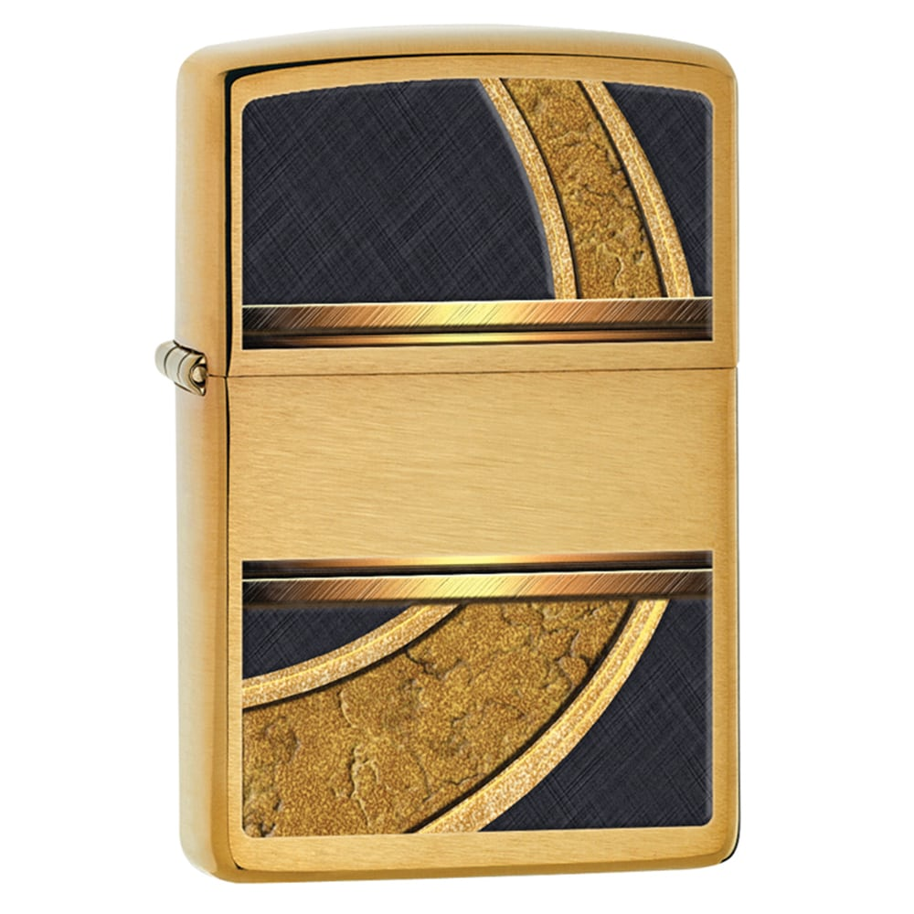 Shop Zippo Gold And Black Lighter Free Shipping On Orders Over 45 Ice 8931714