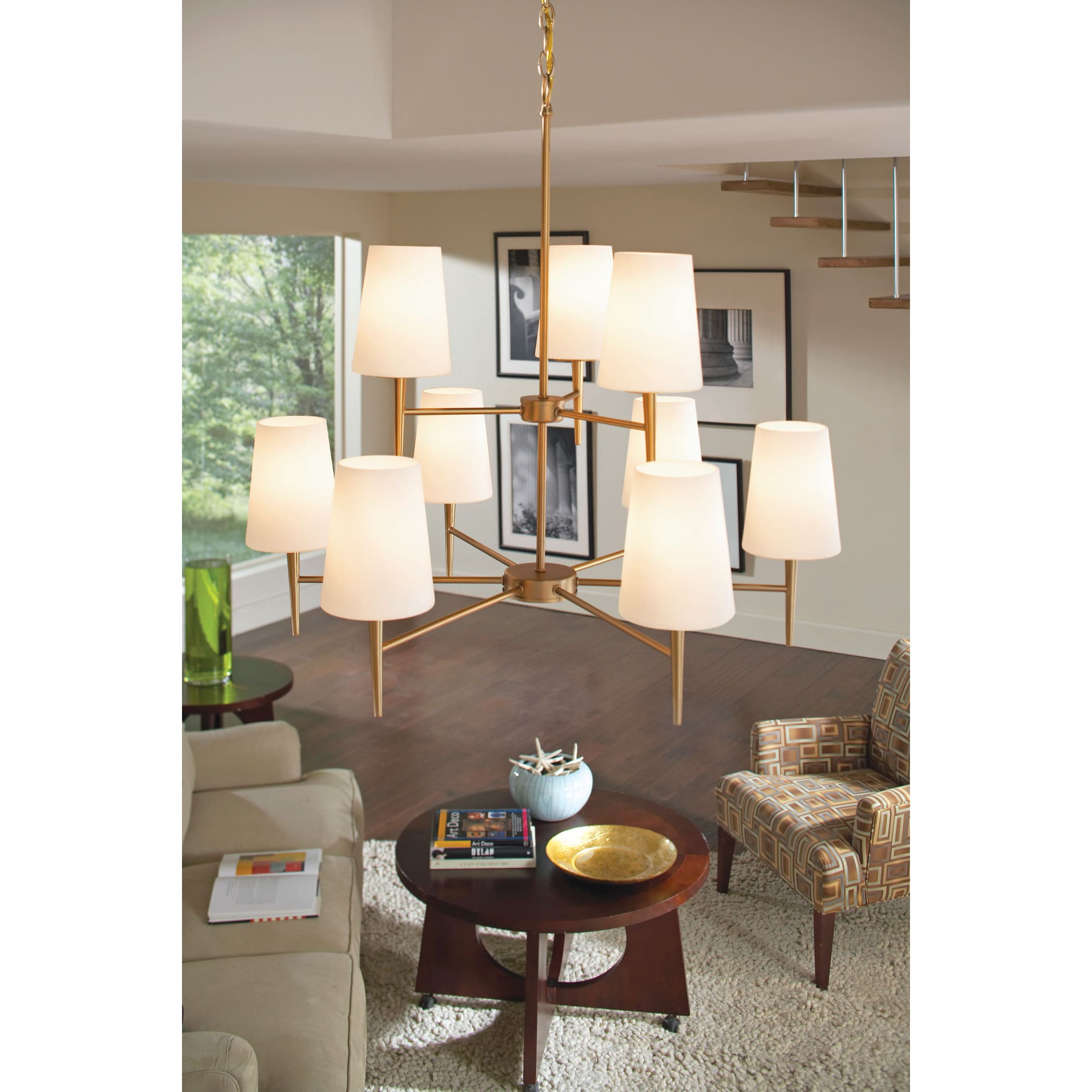 Shop Driscoll 9 Light Multi Tiered Chandelier   Free Shipping Today    Overstock.com   8932662