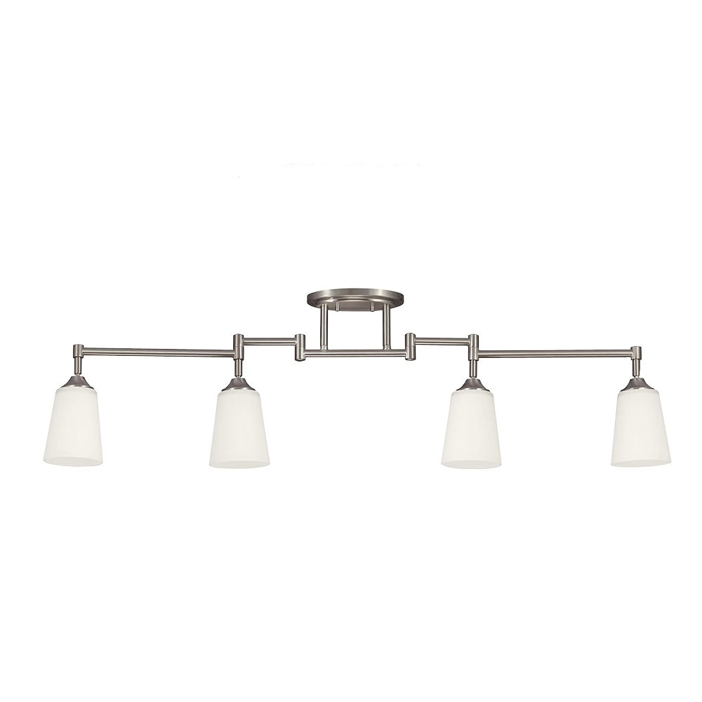 Shop track 4 light brushed nickel lighting kit free shipping today overstock com 8932673