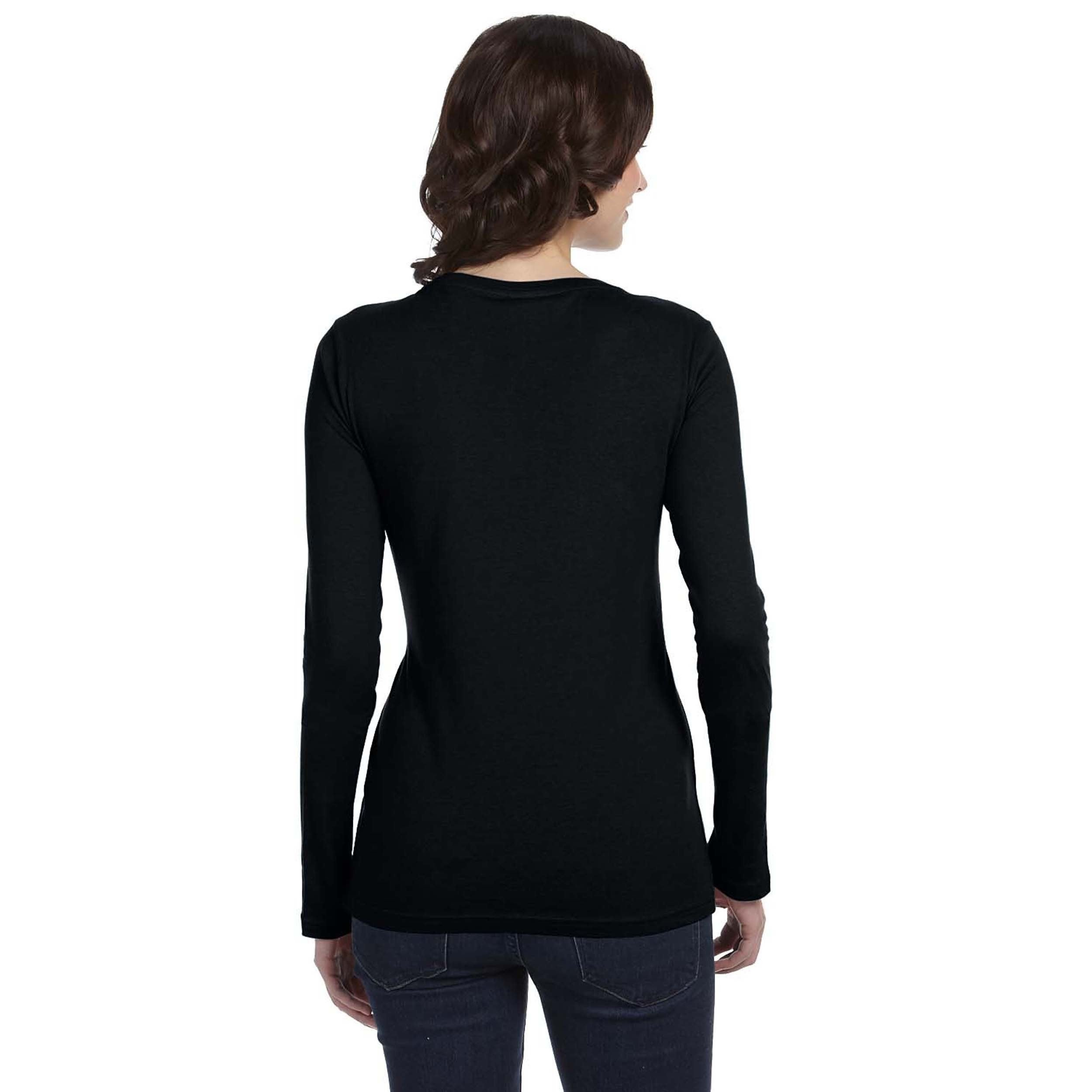 9d6272ec Shop Anvil Women's Sheer Long Sleeve Scoop Neck T-shirt - On Sale - Free  Shipping On Orders Over $45 - Overstock - 8935254
