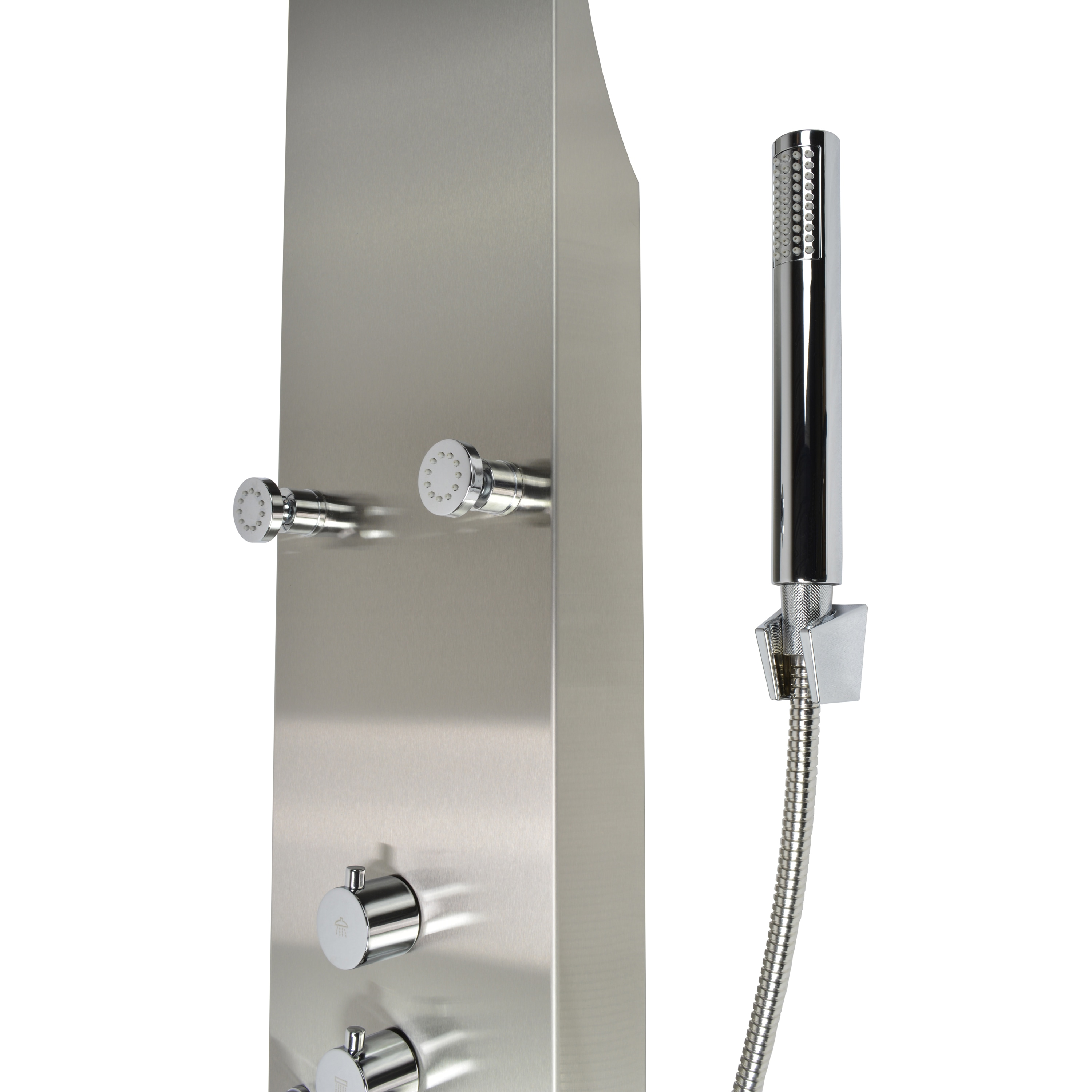 pin bathroom the from head shower led revive waterfall chromotherapy in crosswater rio